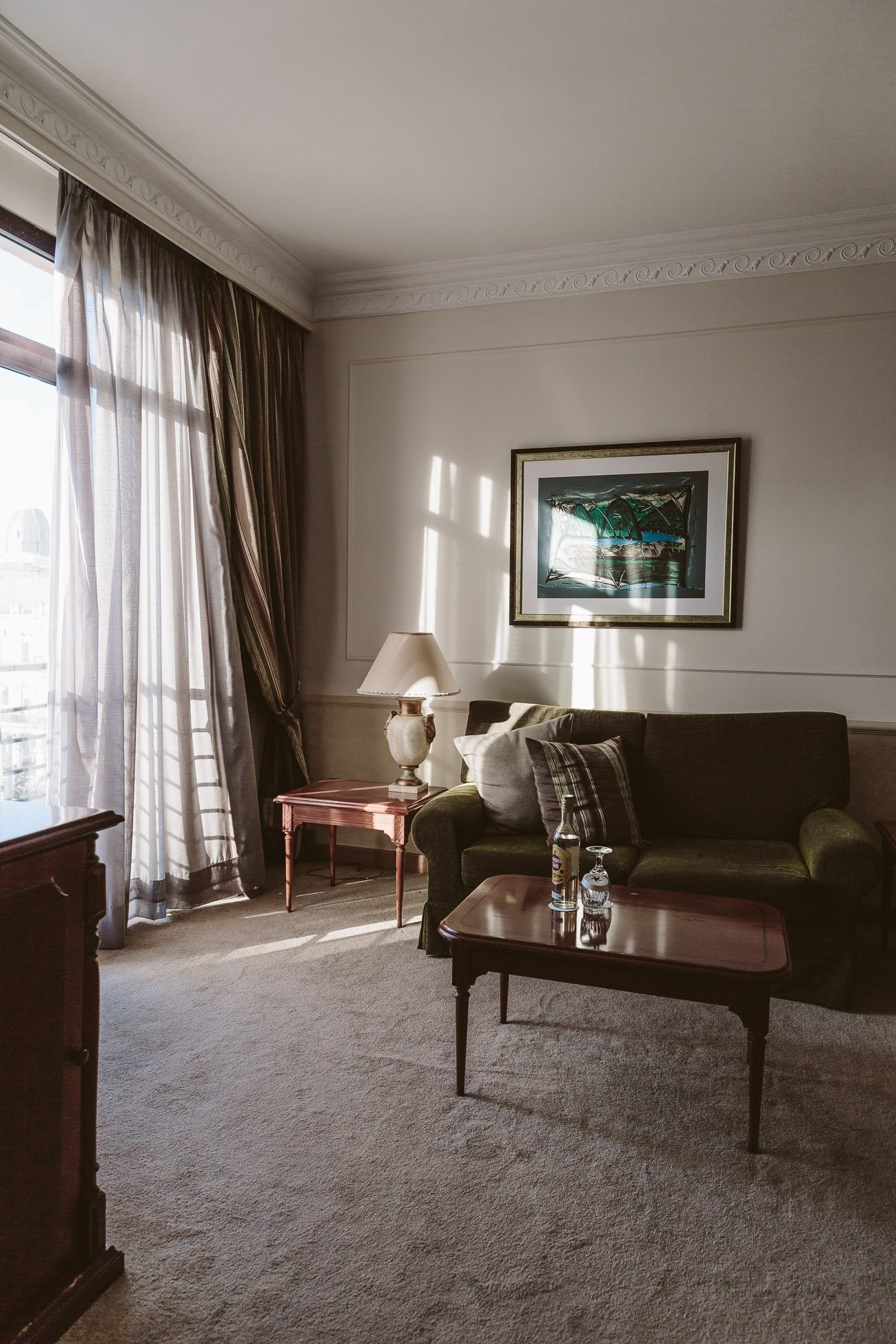 Part of our Suite at Iberostar Parque Central Hotel in Havana Cuba