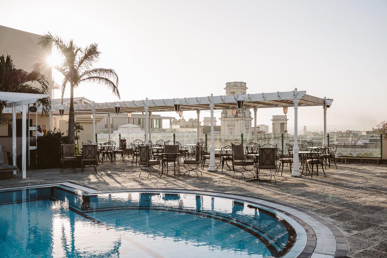 Rooftop pool at Iberostar Parque Central Havana