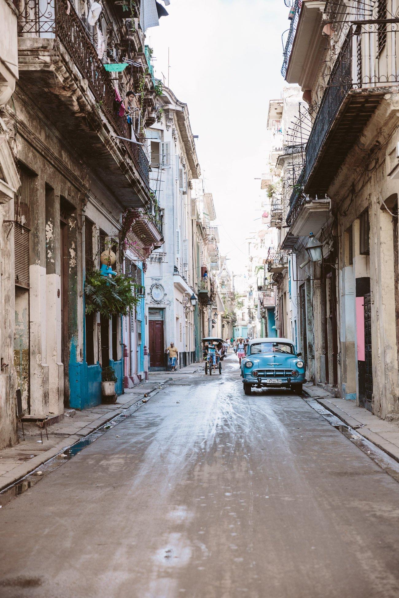Street of Havana vieja Cuba