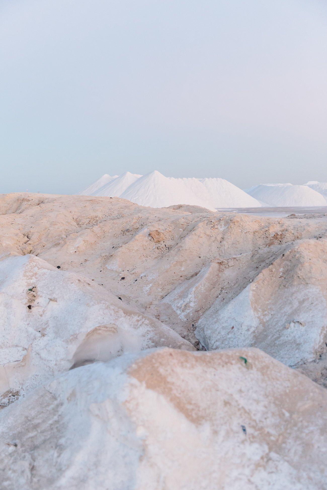 Salt Production in Las Coloradas, Yucatan, Mexico