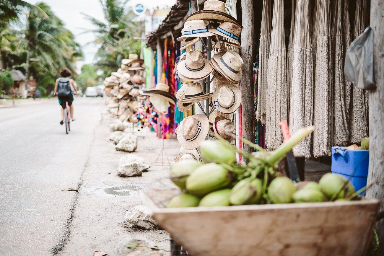 Bike riding in Tulum