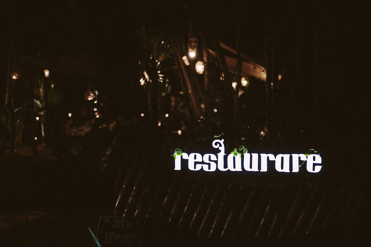 Vegetarian Restaurant Restaurare Tulum Mexico