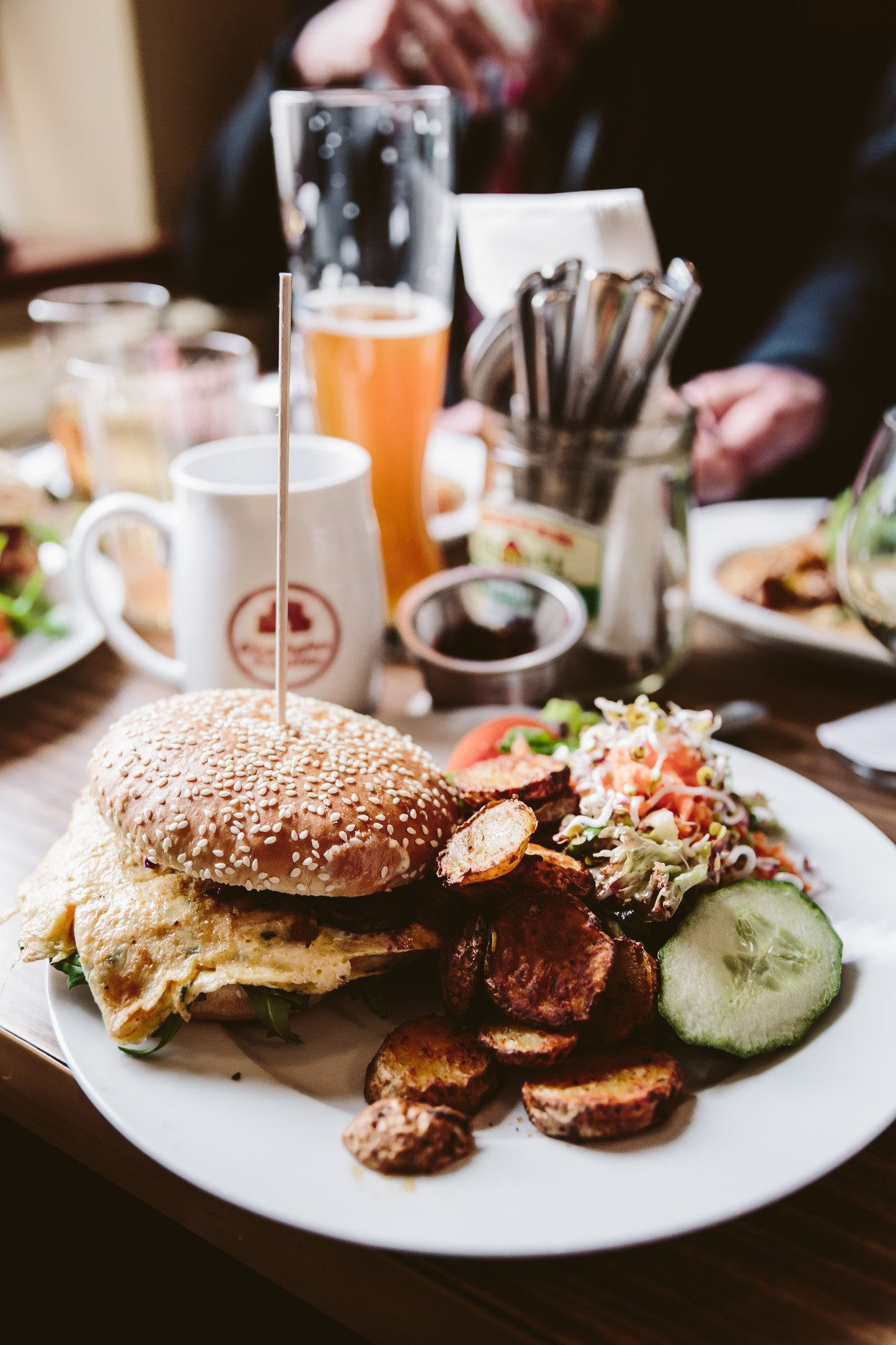 Tasty veggie burger at Oberhafenkantine