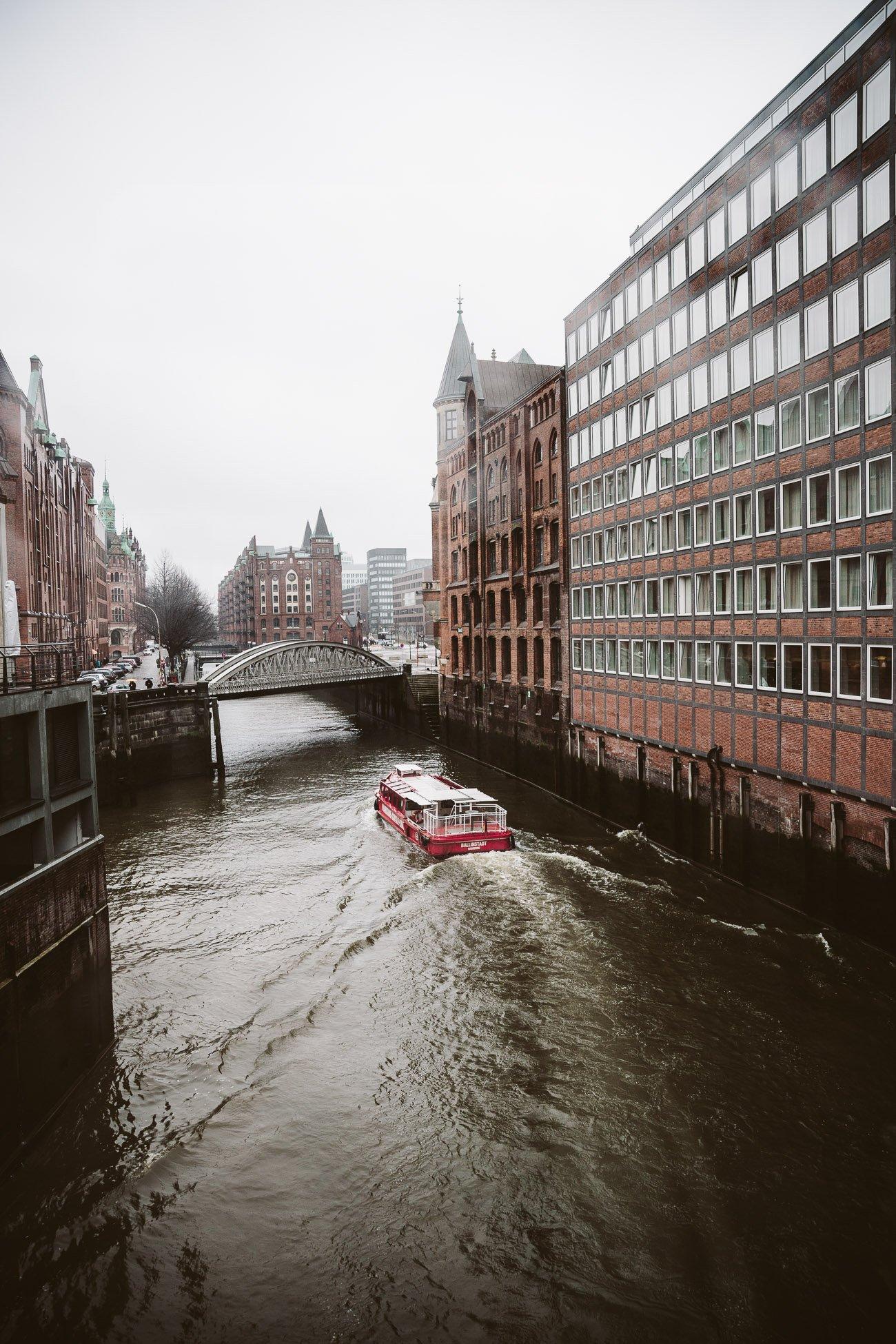 A boat tour of Hamburg's Speicherstadt