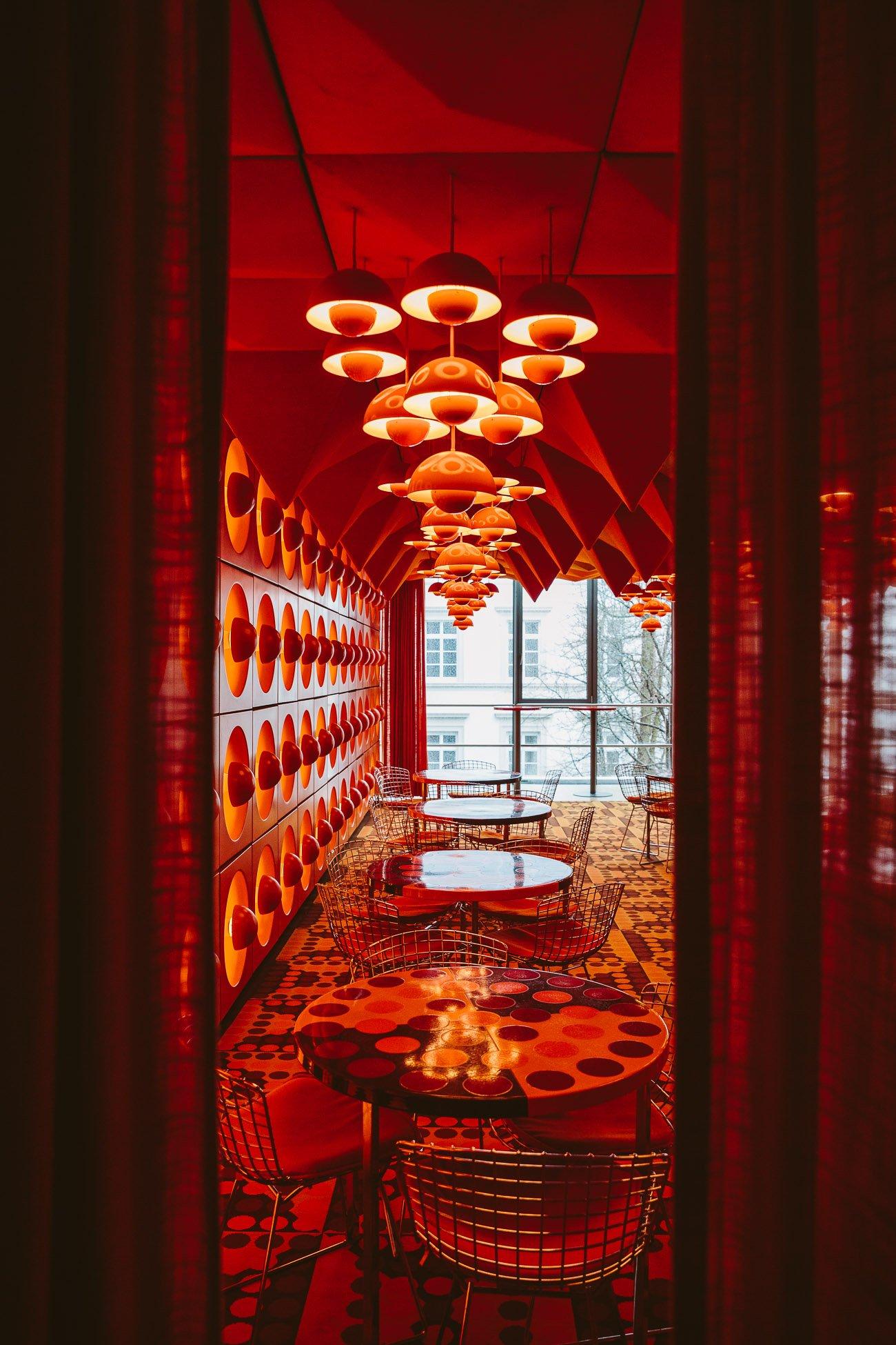 Verner Panton's Spiegel Canteen at Hamburgs Museum für Kunst und Gewerbe