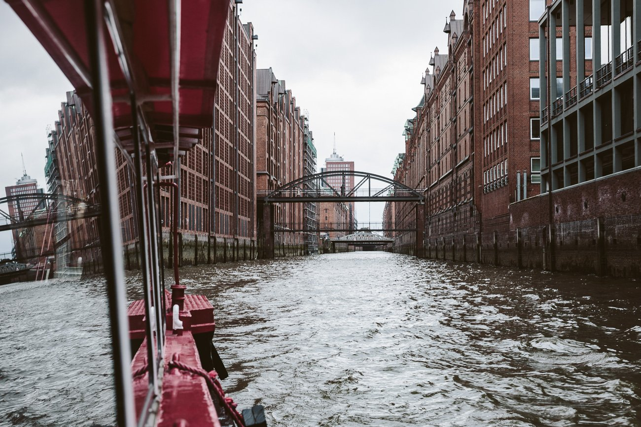 Boat tour of Hamburgs Speicherstadt
