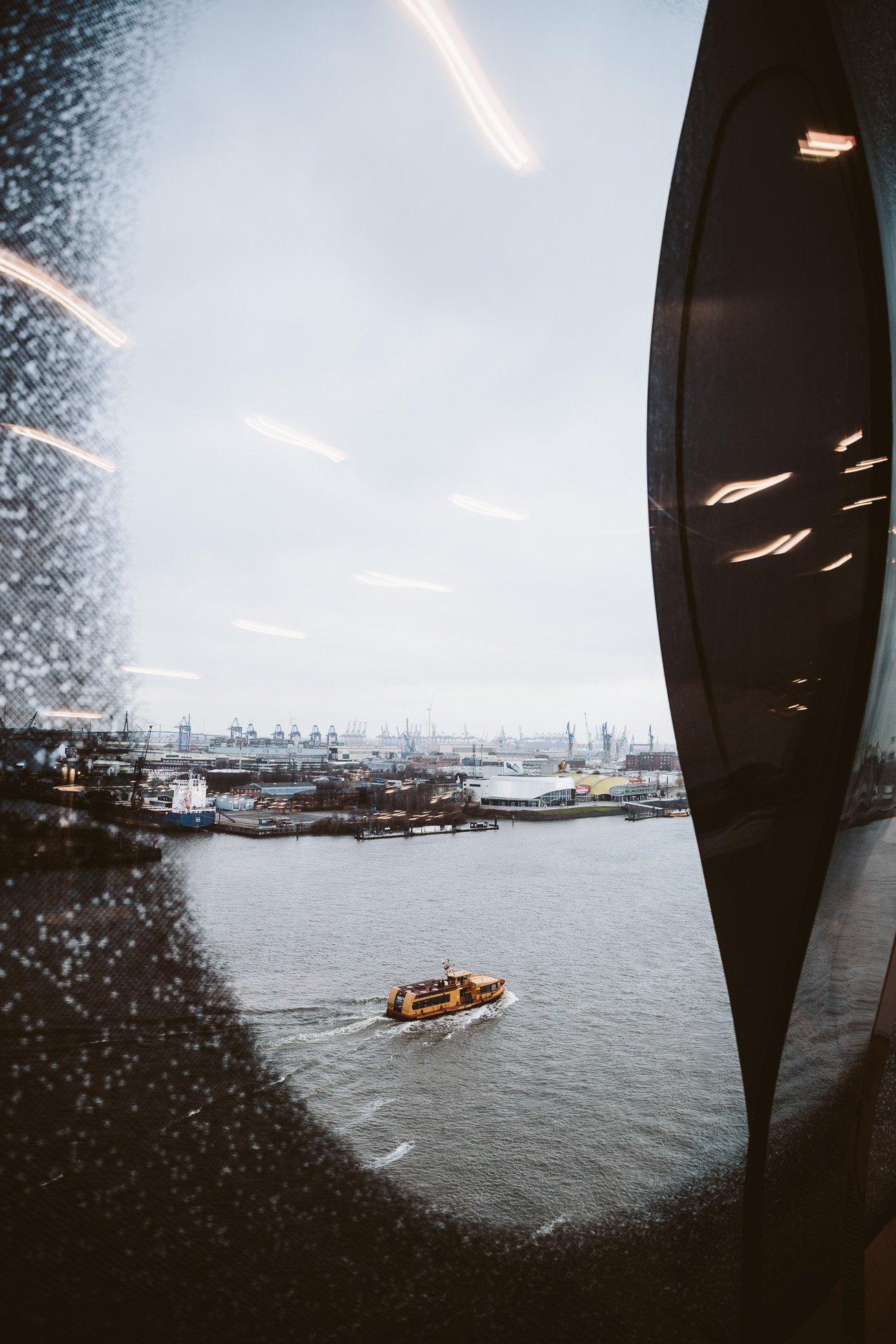 View of Hamburg's Harbor from the Elphi Elbphilharmonie Hamburg