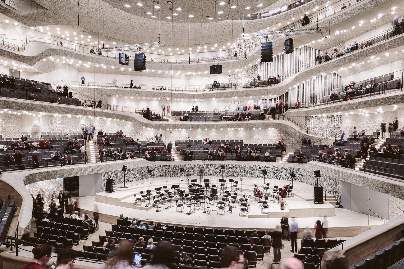The concert hall at Elphi Elbphilharmonie Hamburg