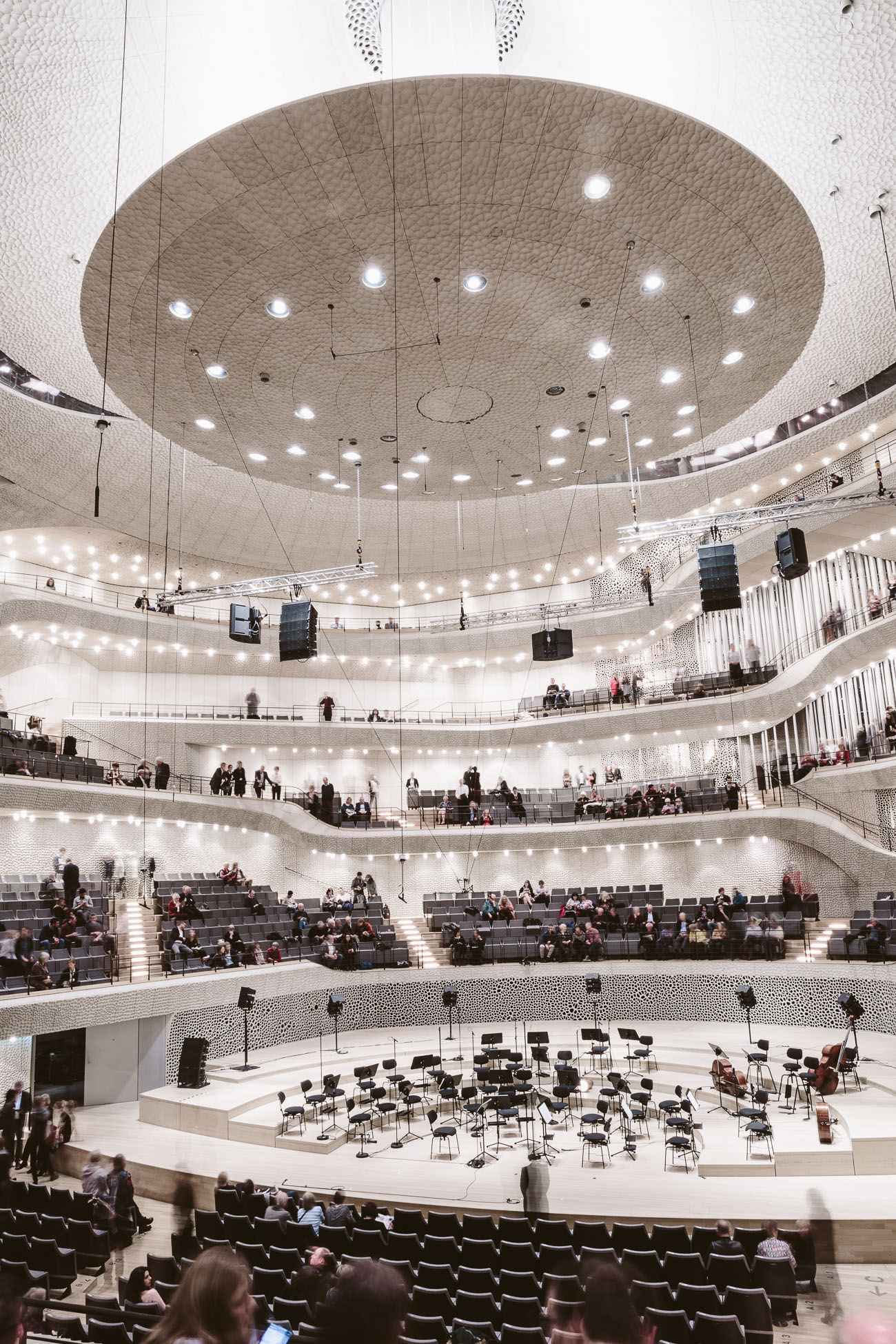 The concert hall at Elphi Elbphilharmonie Hamburg
