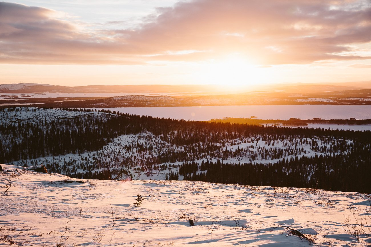 Sunset in Swedish Lapland