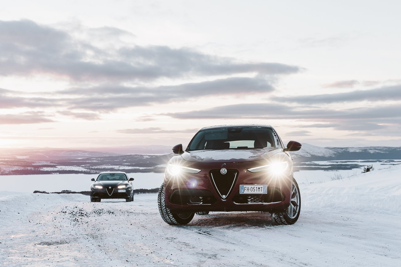 Alfa Romeo Stelvio in Swedish Lapland