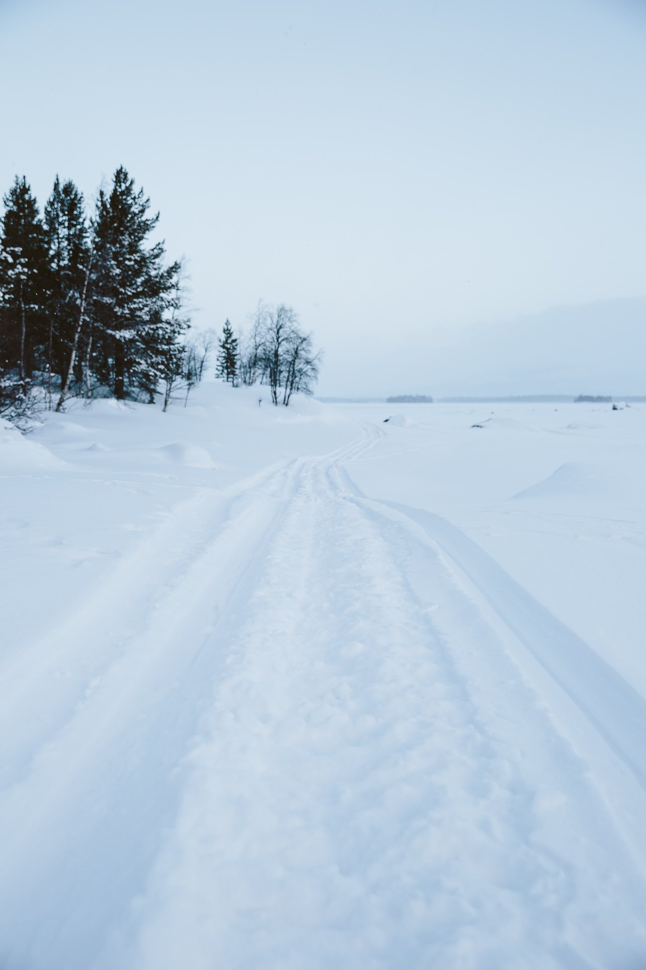 Swedish Lapland landscape in winter