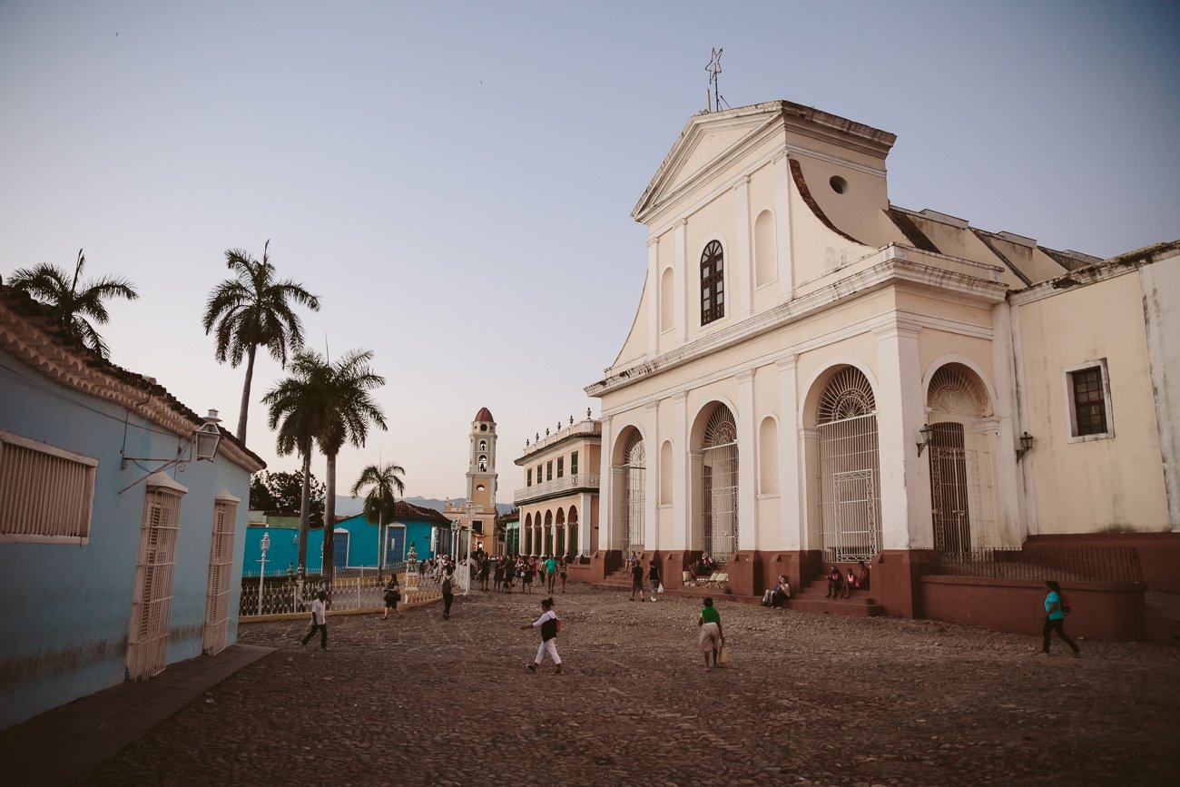 The main square in Trinidad Cuba
