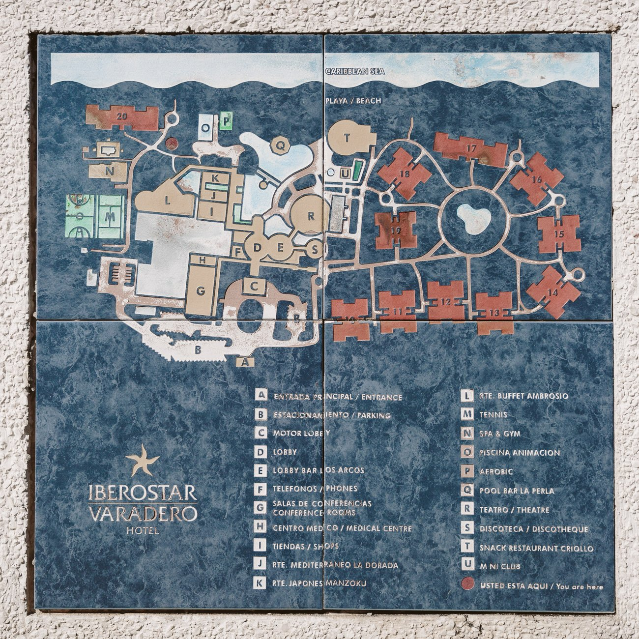 Building plan of Iberostar Varadero