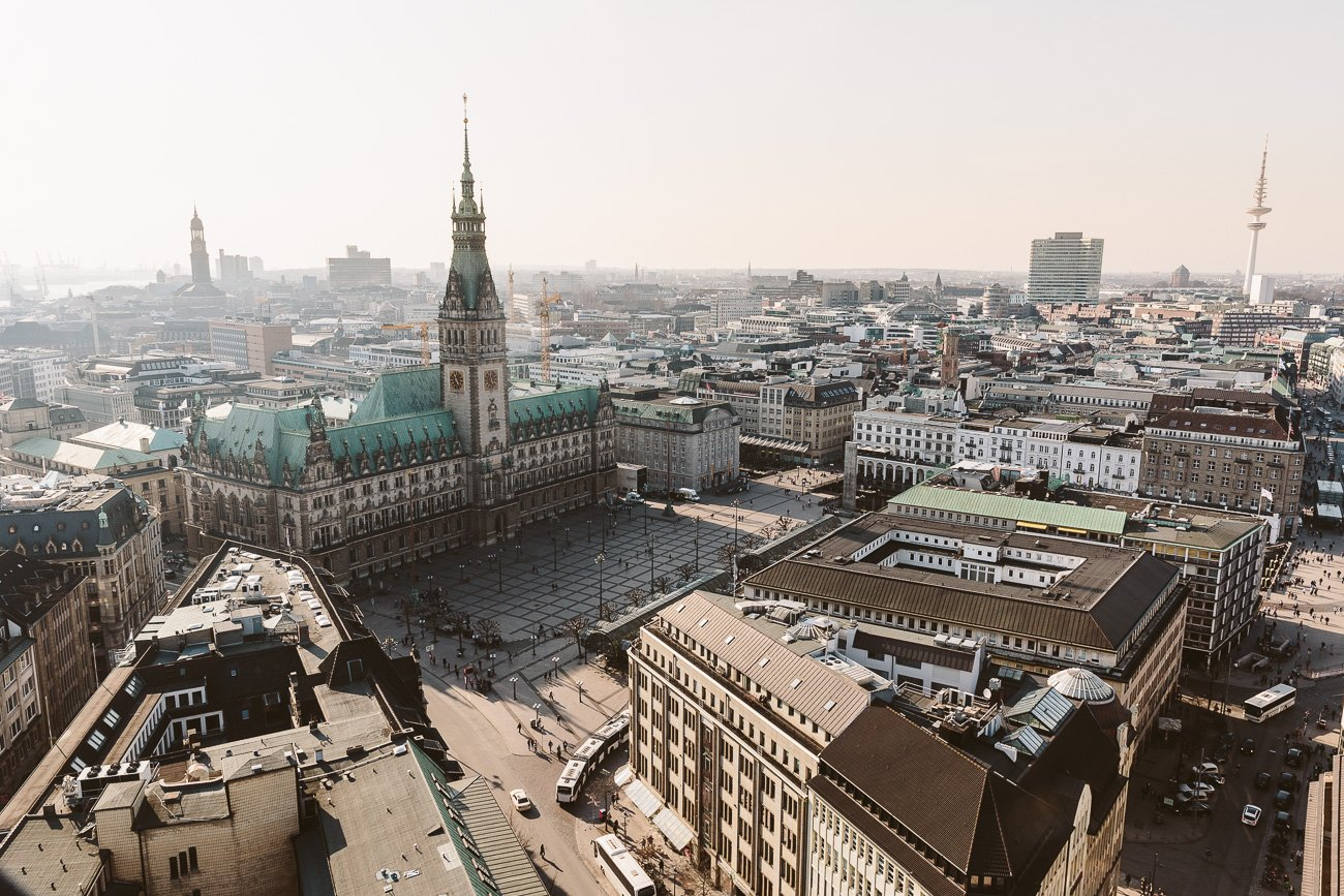 View of Hamburg from St. Petri Church