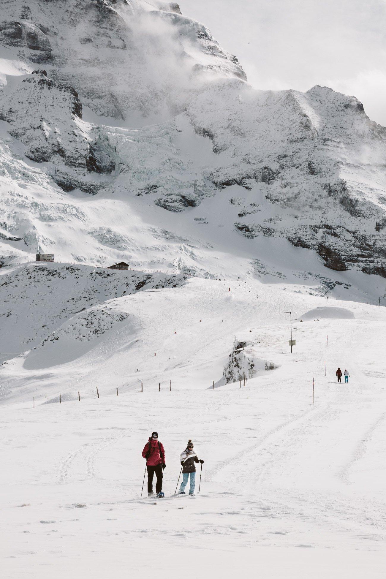 Snowshoeing in Kleine Scheidegg