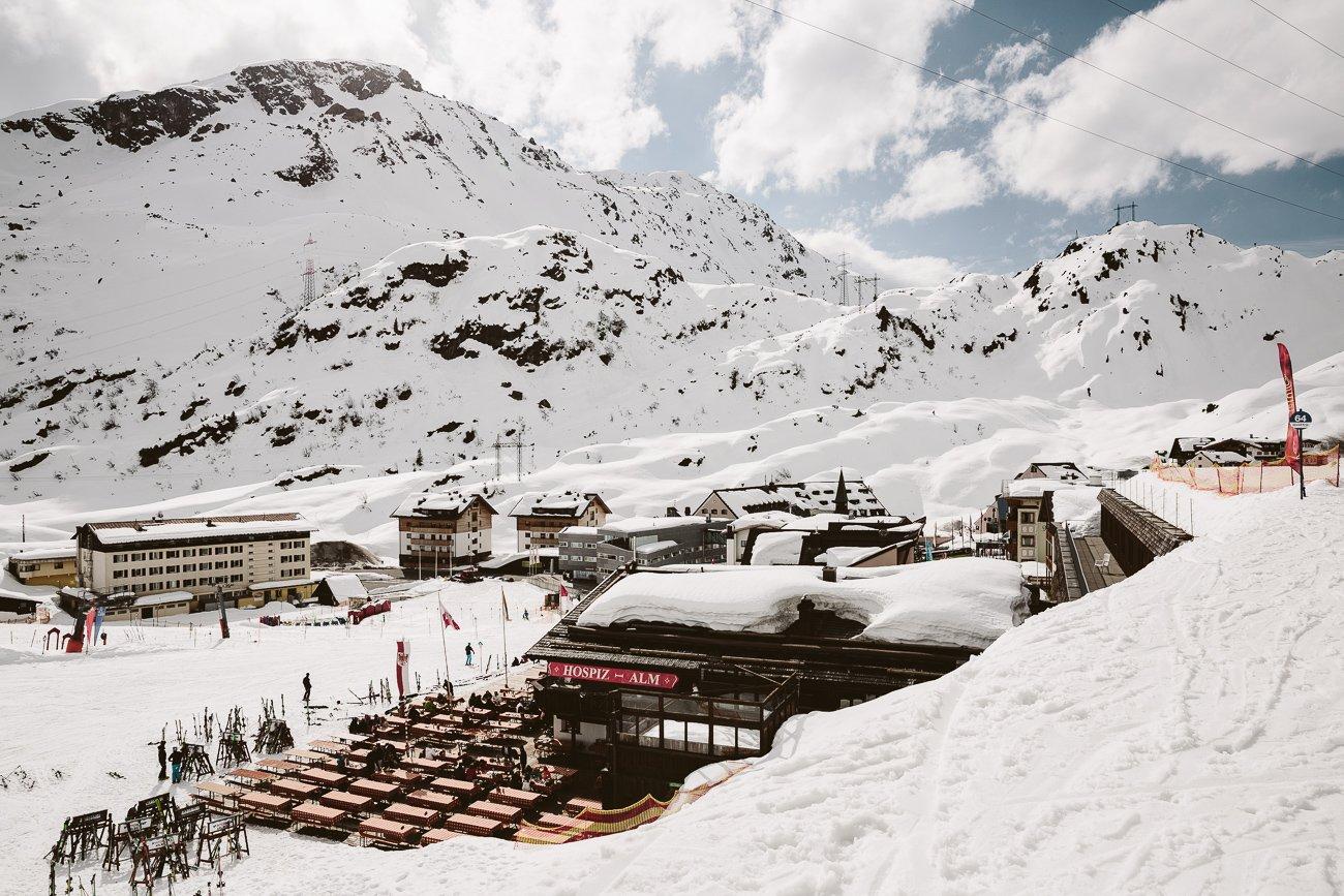 The view from Arlberg Thaja towards St. Christoph
