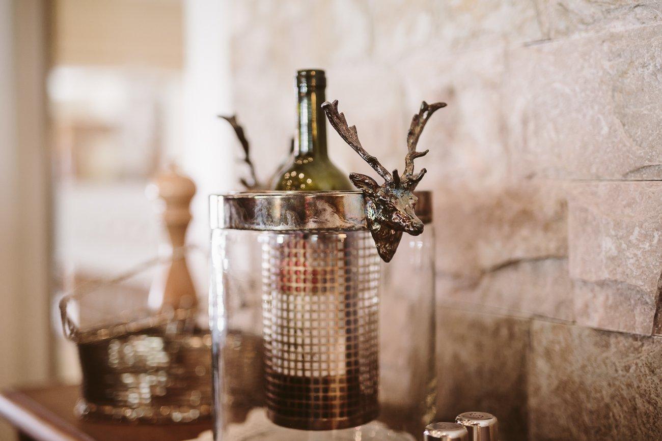Wine bottle at Dinner at Hotel Schwarzer Adler St. Anton am Arlberg