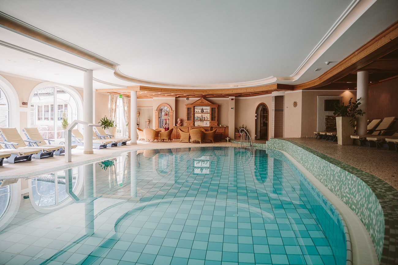 Indoor pool at Hotel Schwarzer Adler