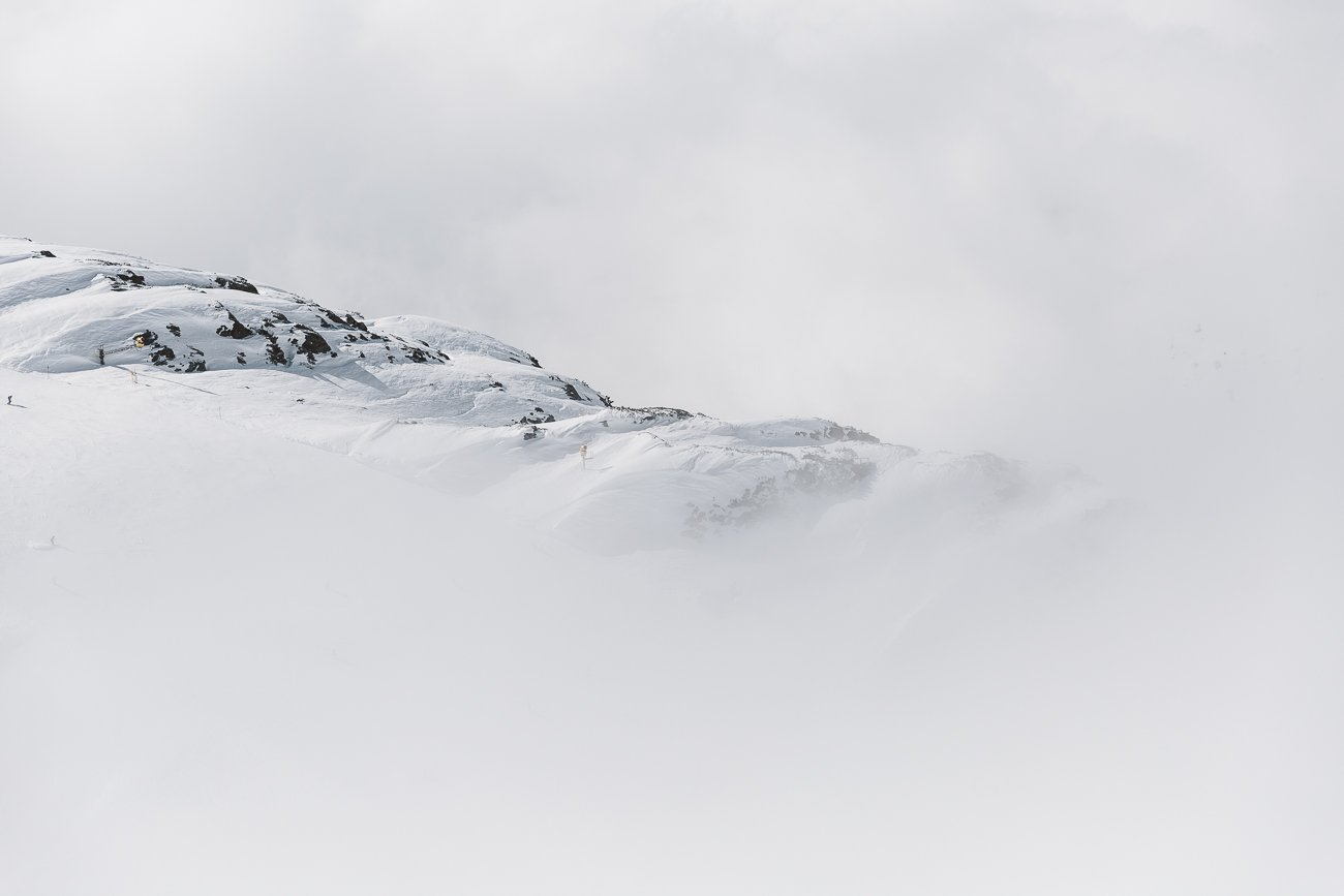 Foggy views of the Arlberg Skiing arena