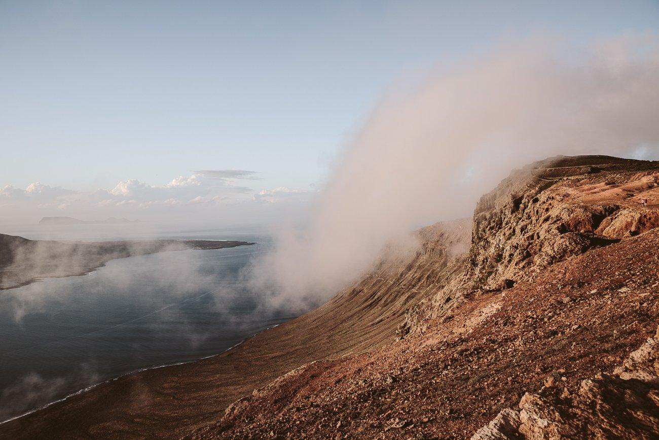 Rolling clouds over Mirador del Rio Lanzarote