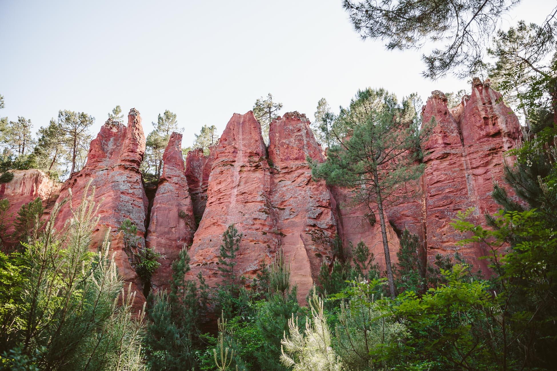 Le sentier des Ocres in Roussillon