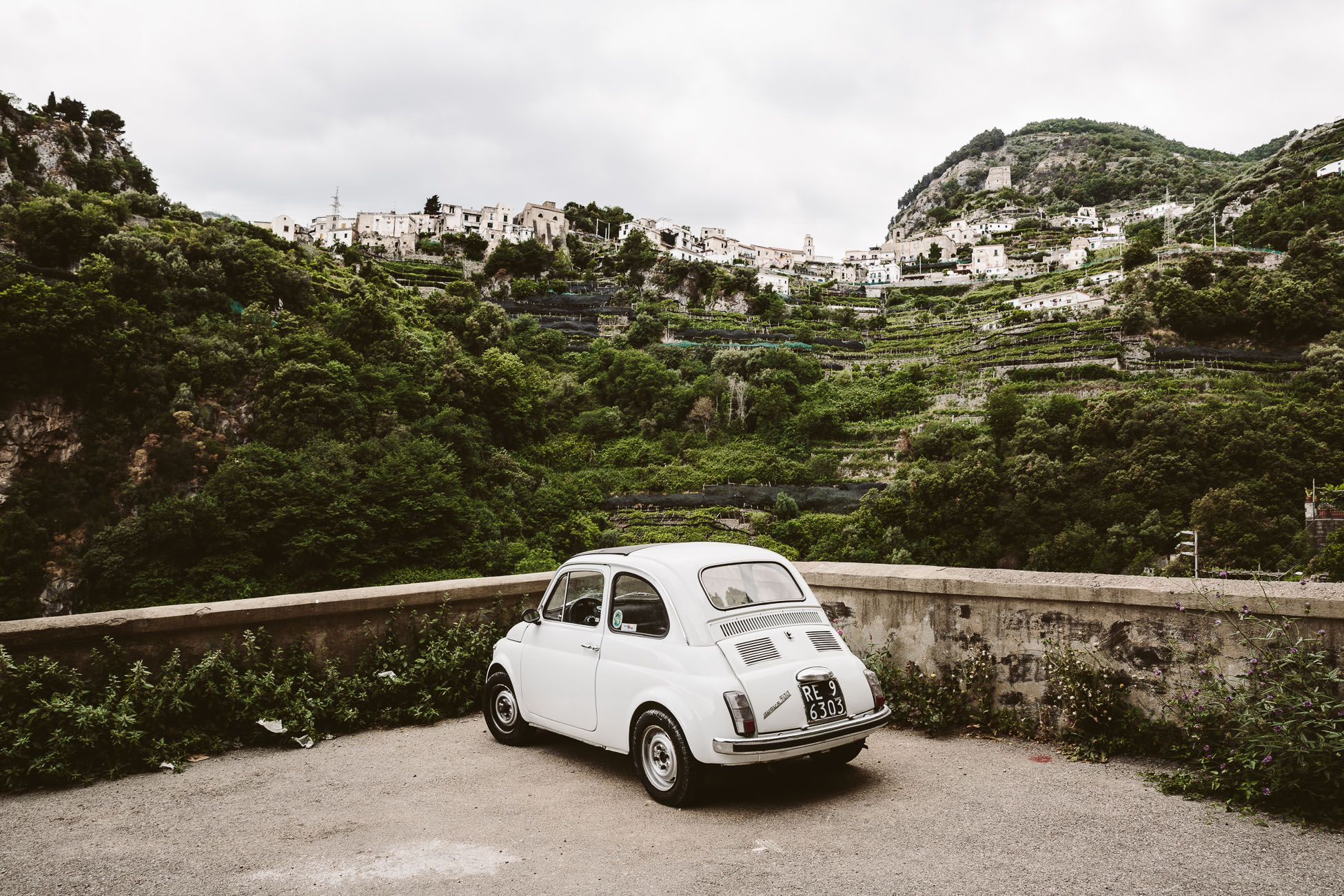 Fiat 500 in Ravello Amalfi Coast
