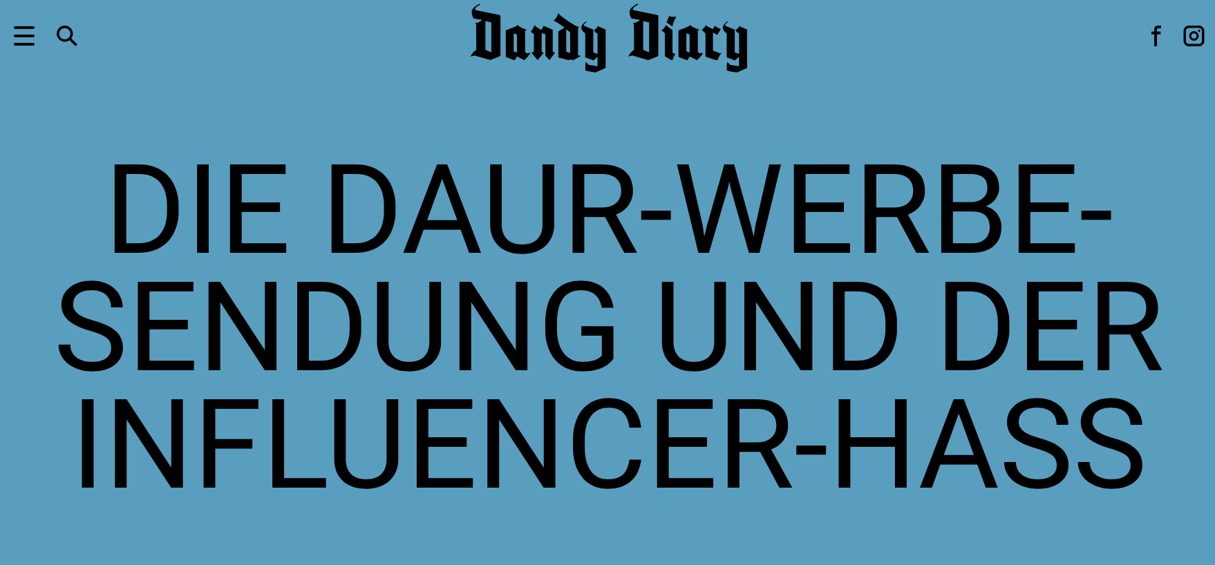 Dandy Diary Influencer Marketing Hass