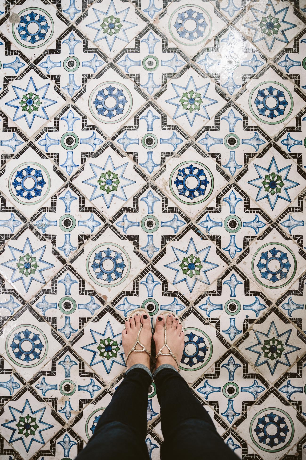 Tile floor of Villa Rufolo, Ravello, Amalfi Coast