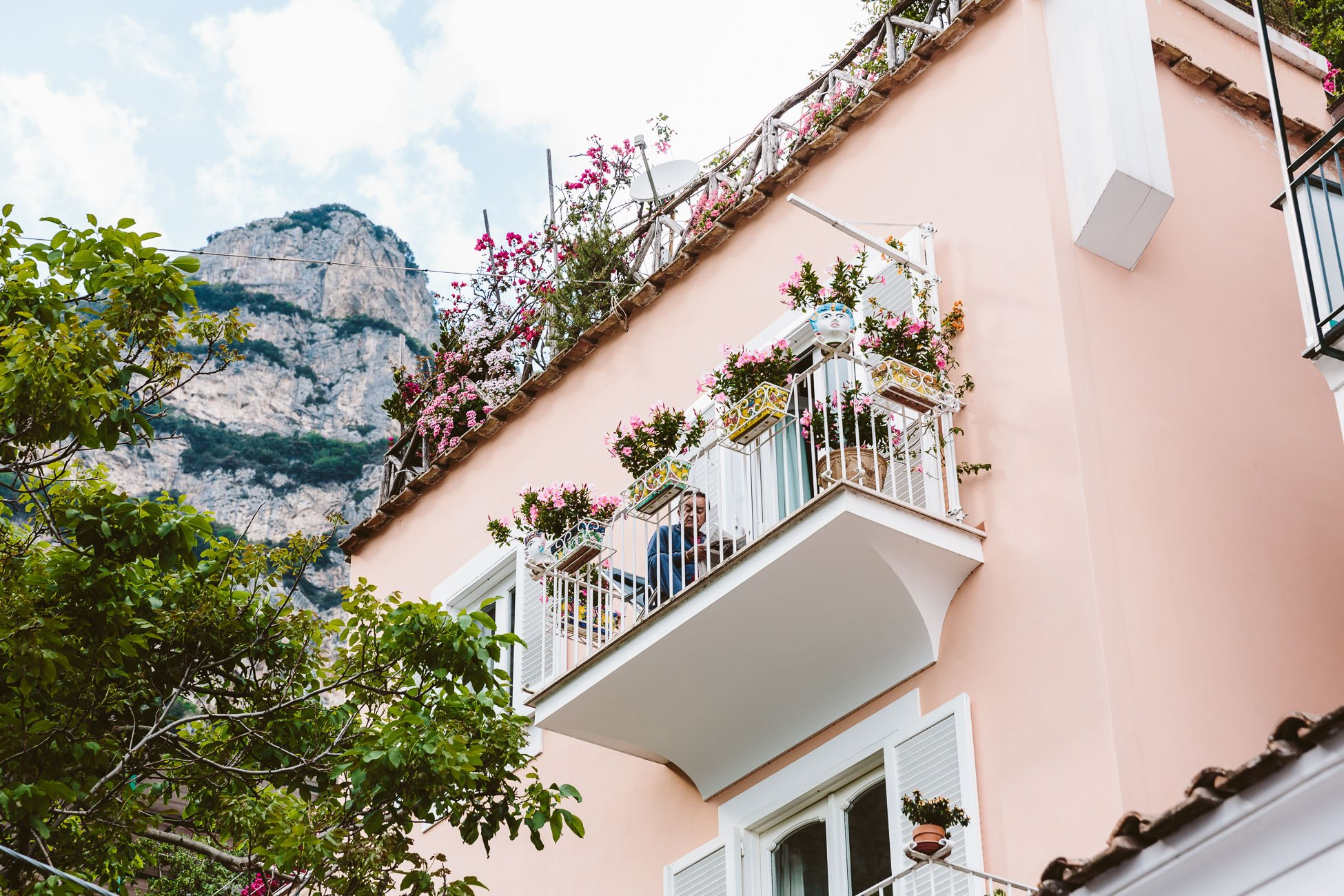 Italian Street Scene at the Amalfi Coast