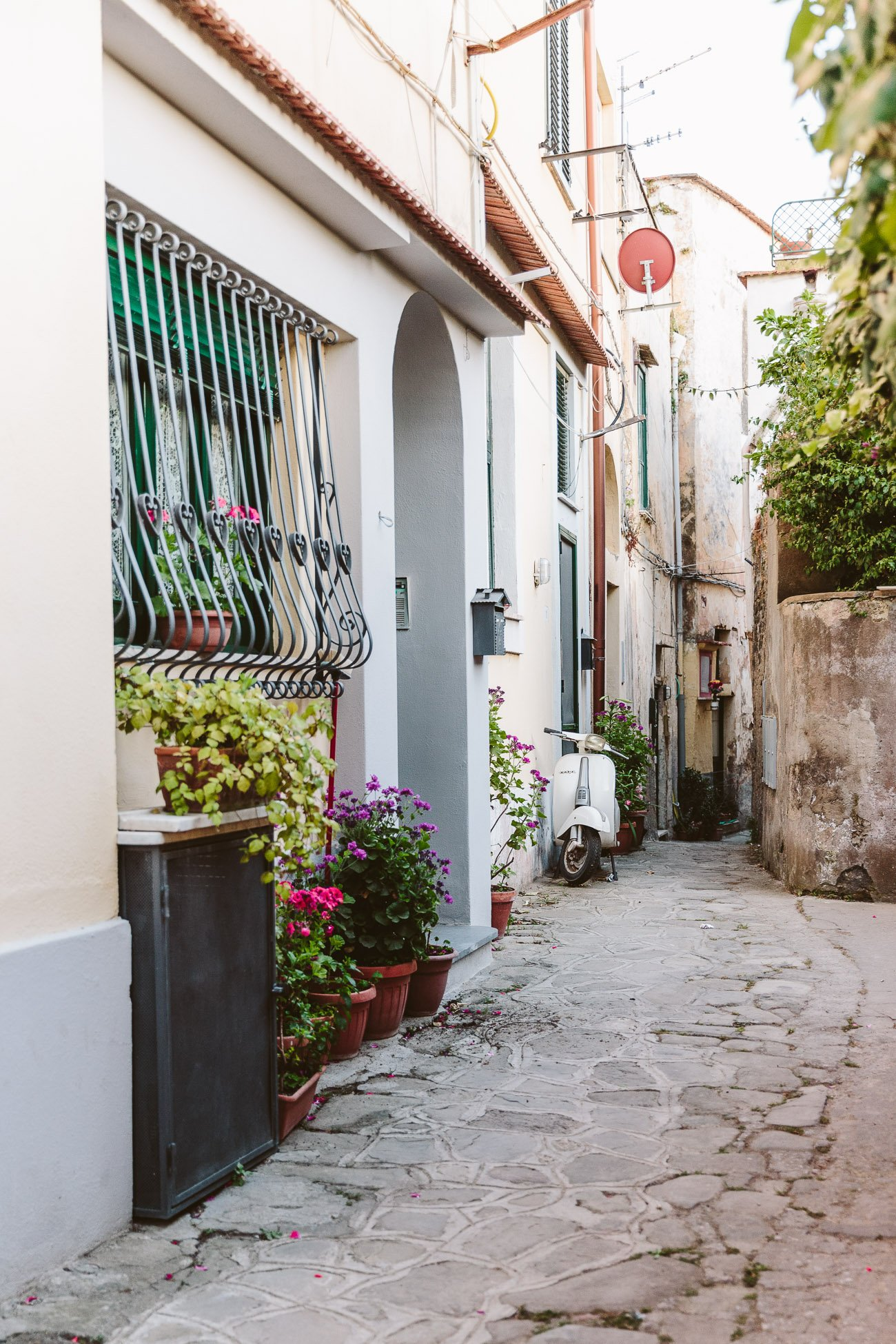 The quiet streets of Massa Lubrense, Sorrento Coast