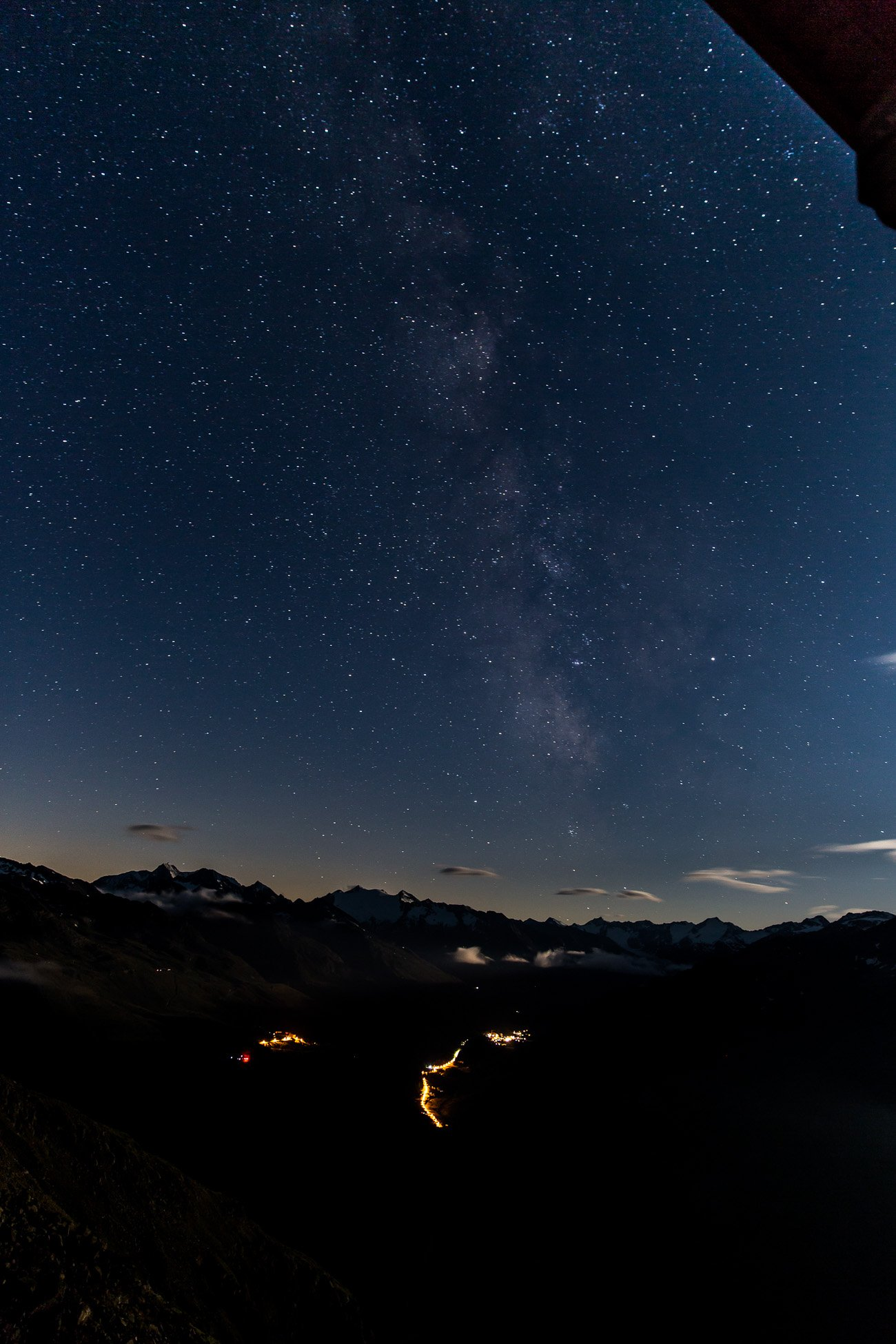 Milky Way as seen from Brunnenkogelhaus Oetztal Tyrol