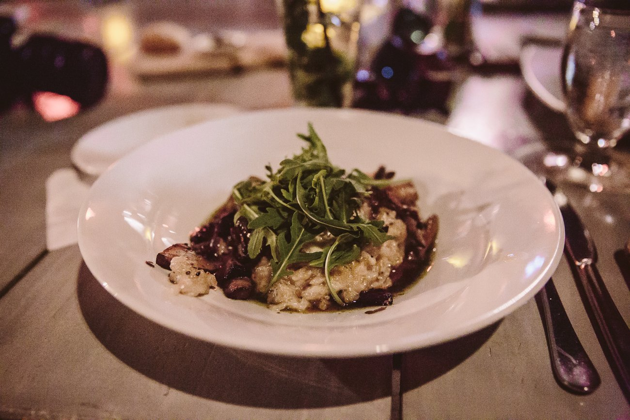 Portobello Risotto at Barefoot Restaurant Aruba