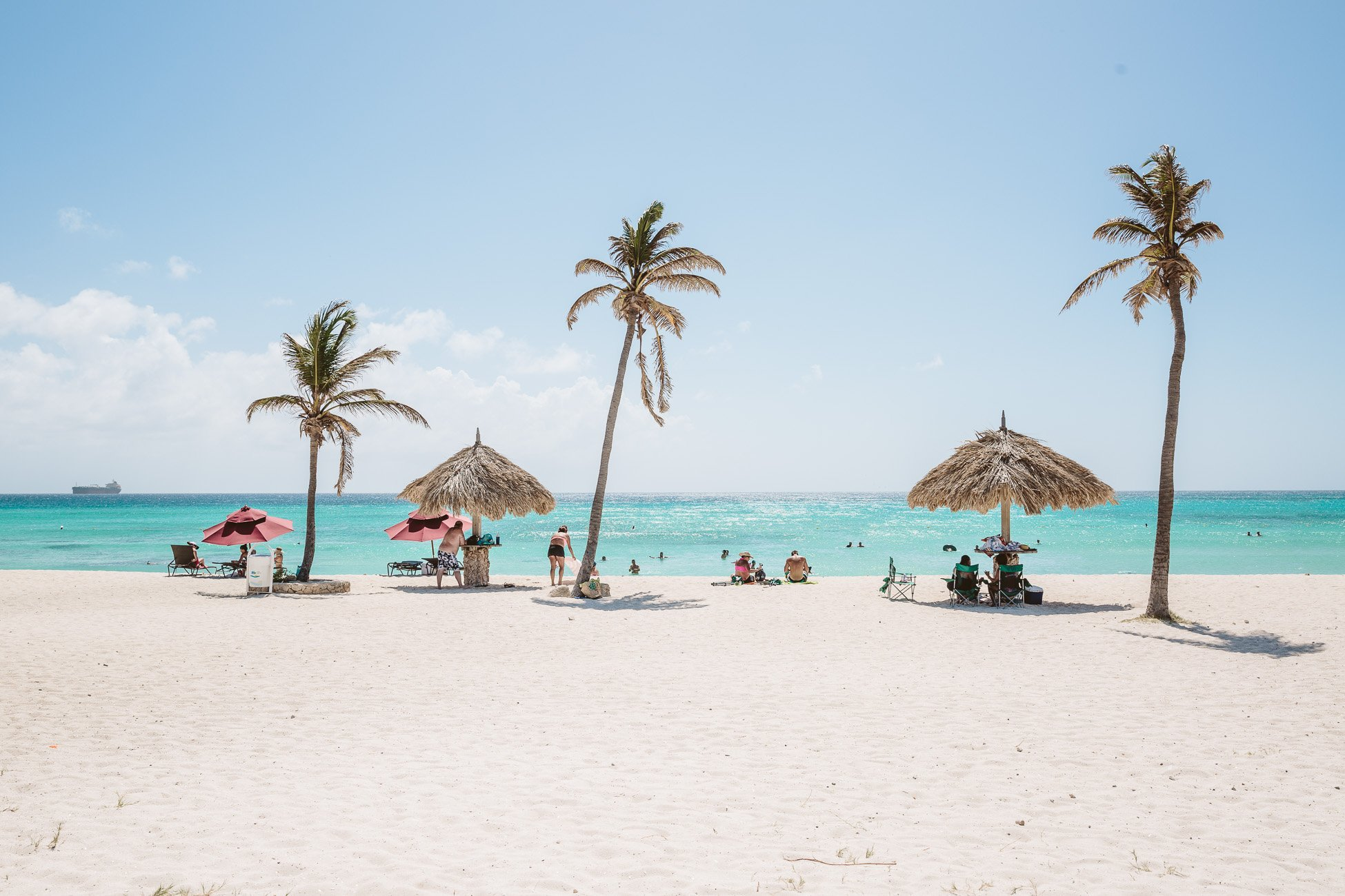 Classic Aruba weather at Arashi Beach