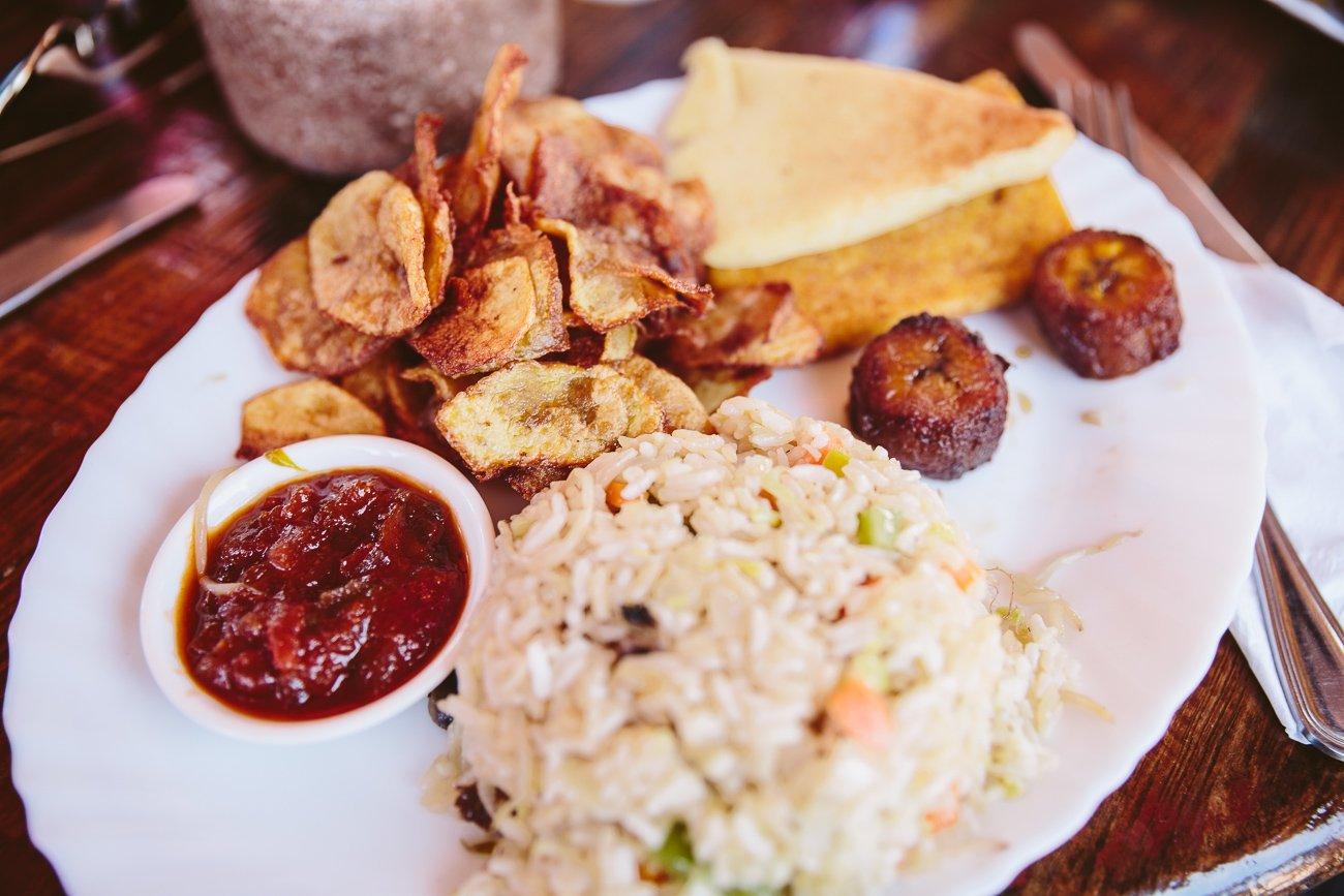 Vegetarian plate at Boca Prins restaurant Aruba