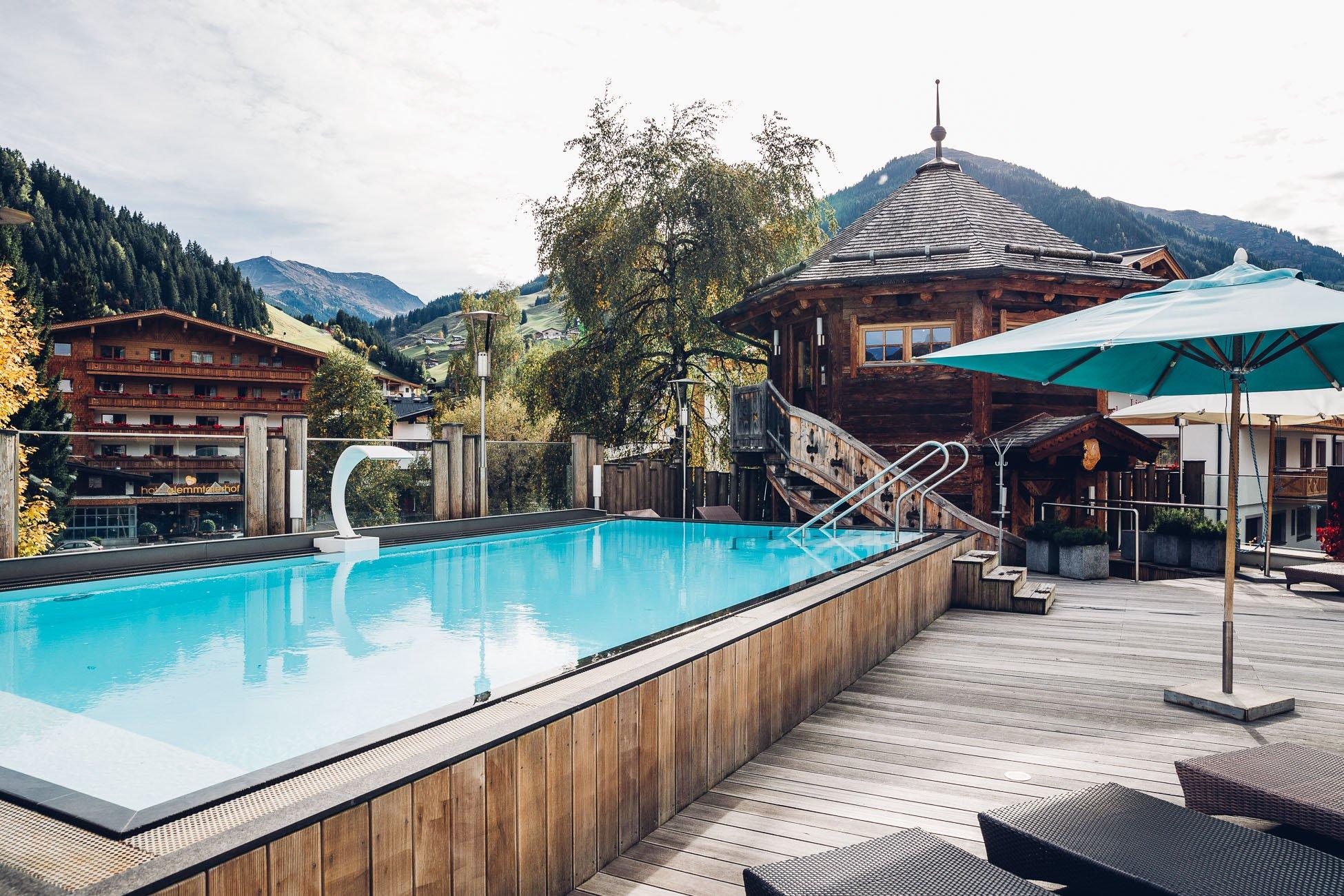 Außenpool Alpine Palace