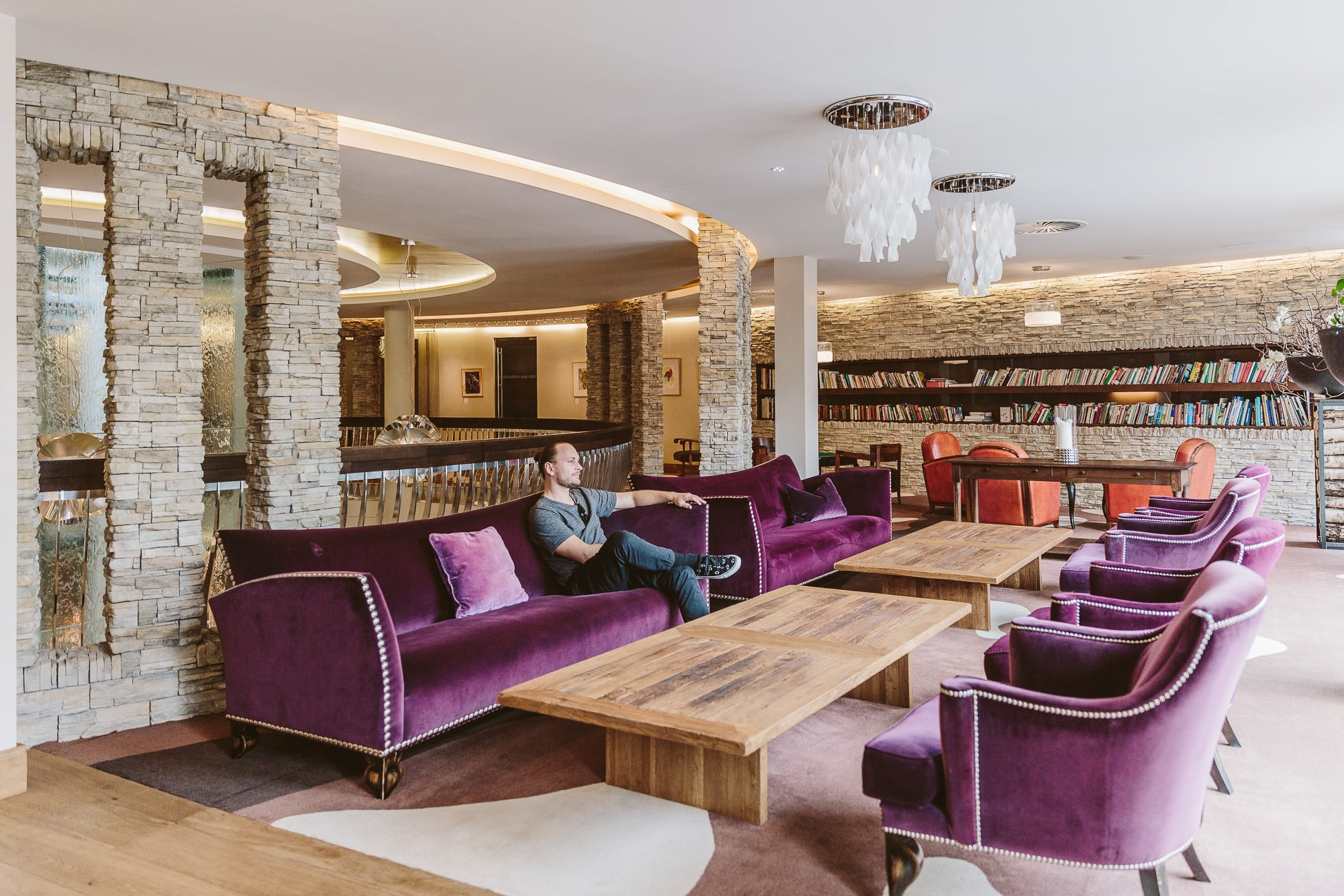 Lounge Bereich im Alpine Palace