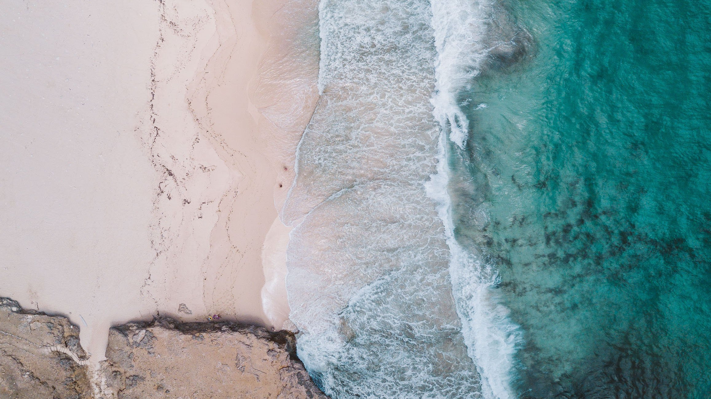 Dos Playa Aruba Beach as seen from above with a drone