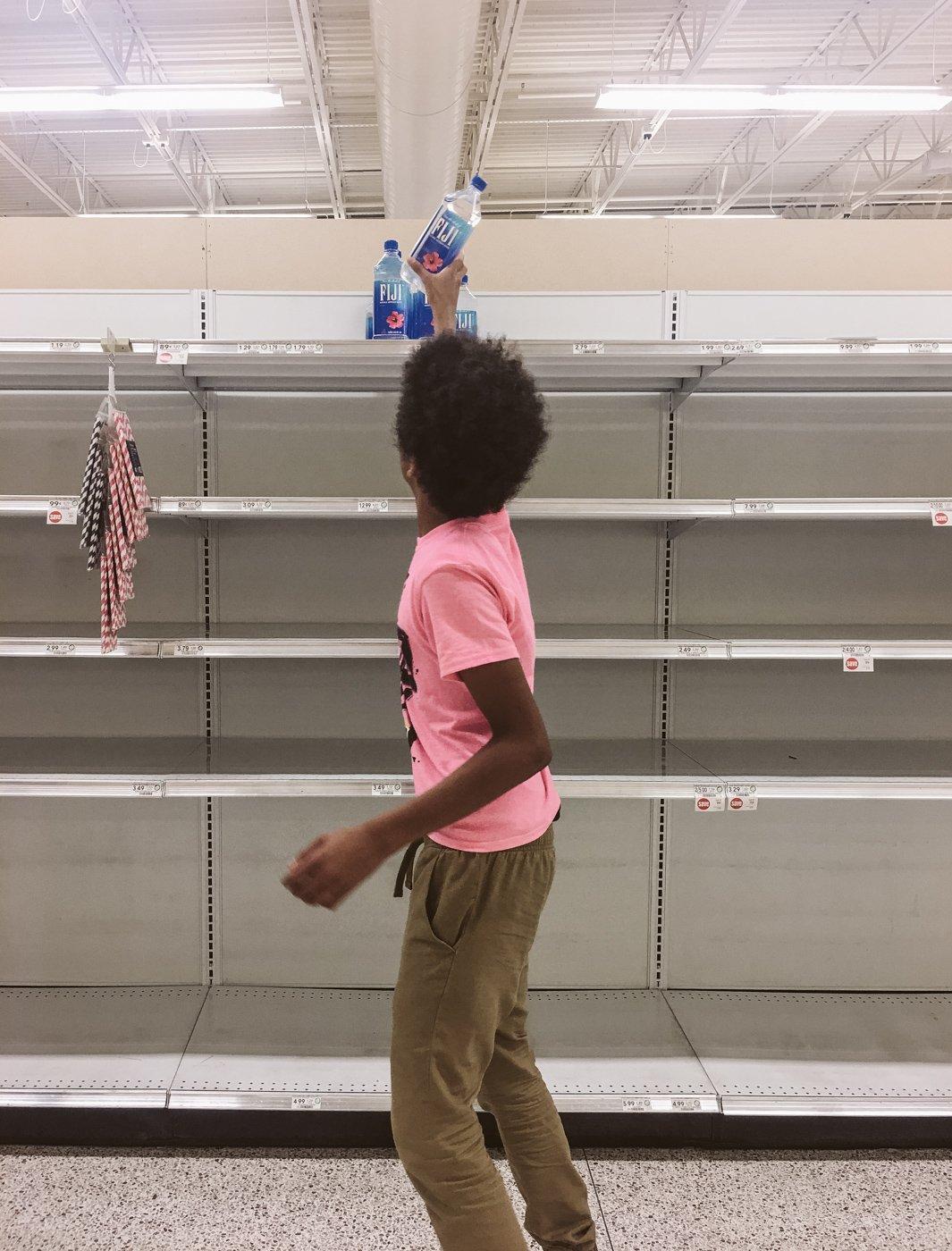 Wasser wird Mangelware während Hurricane Irma in Florida