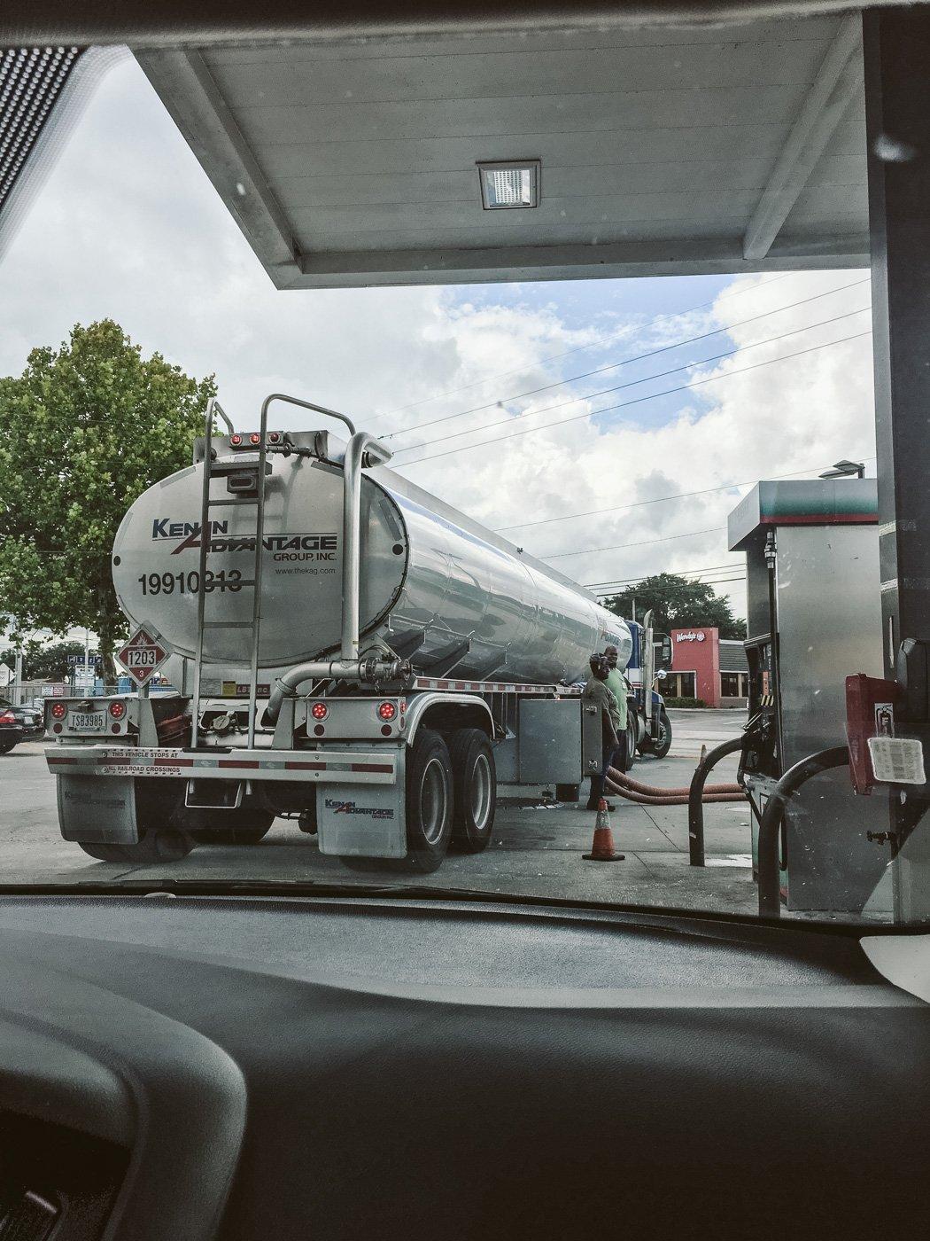 Benzinlieferung vor Hurricane Irma