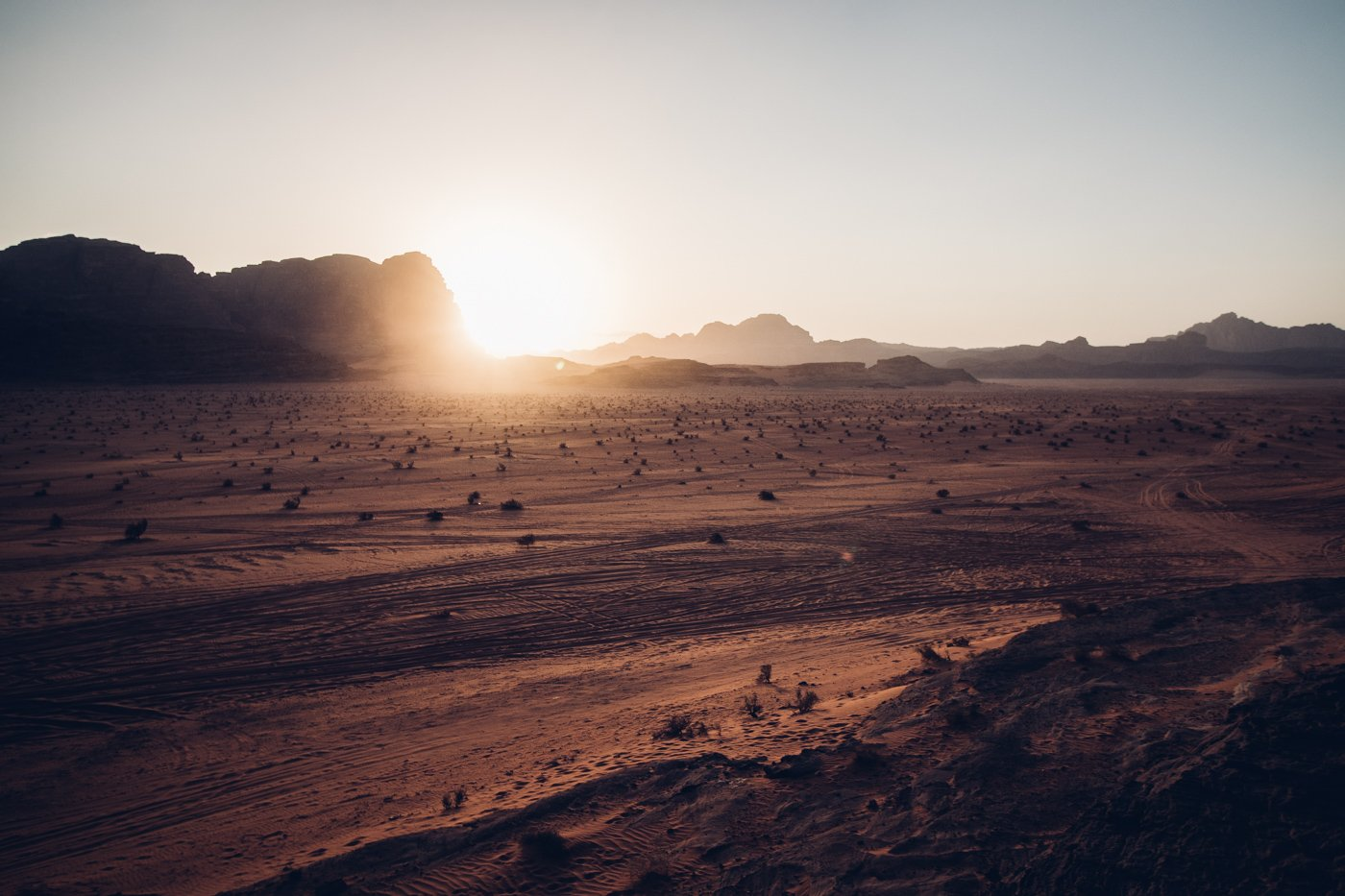 Sunset in Wadi Rum Desert as shot with Canon 200D