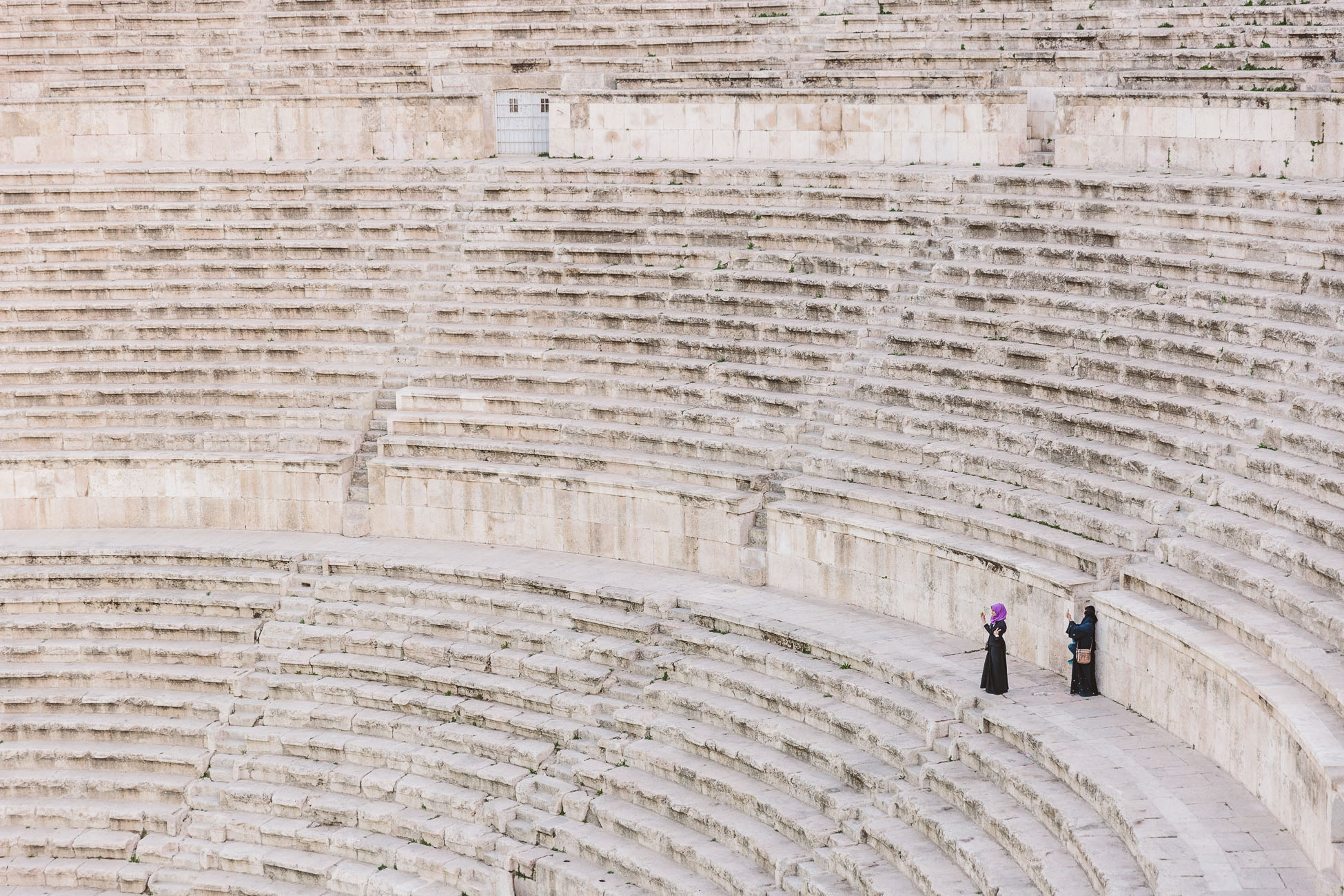 Watch the sunset at the Roman Theatre in Amman during 24 hours in Amman