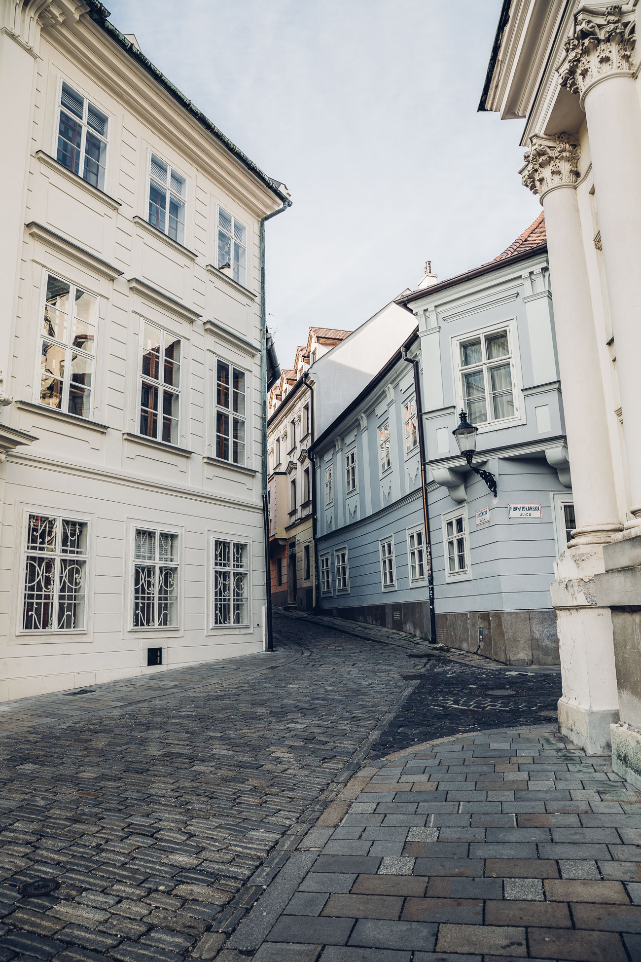 Streets of Old Town of Bratislava