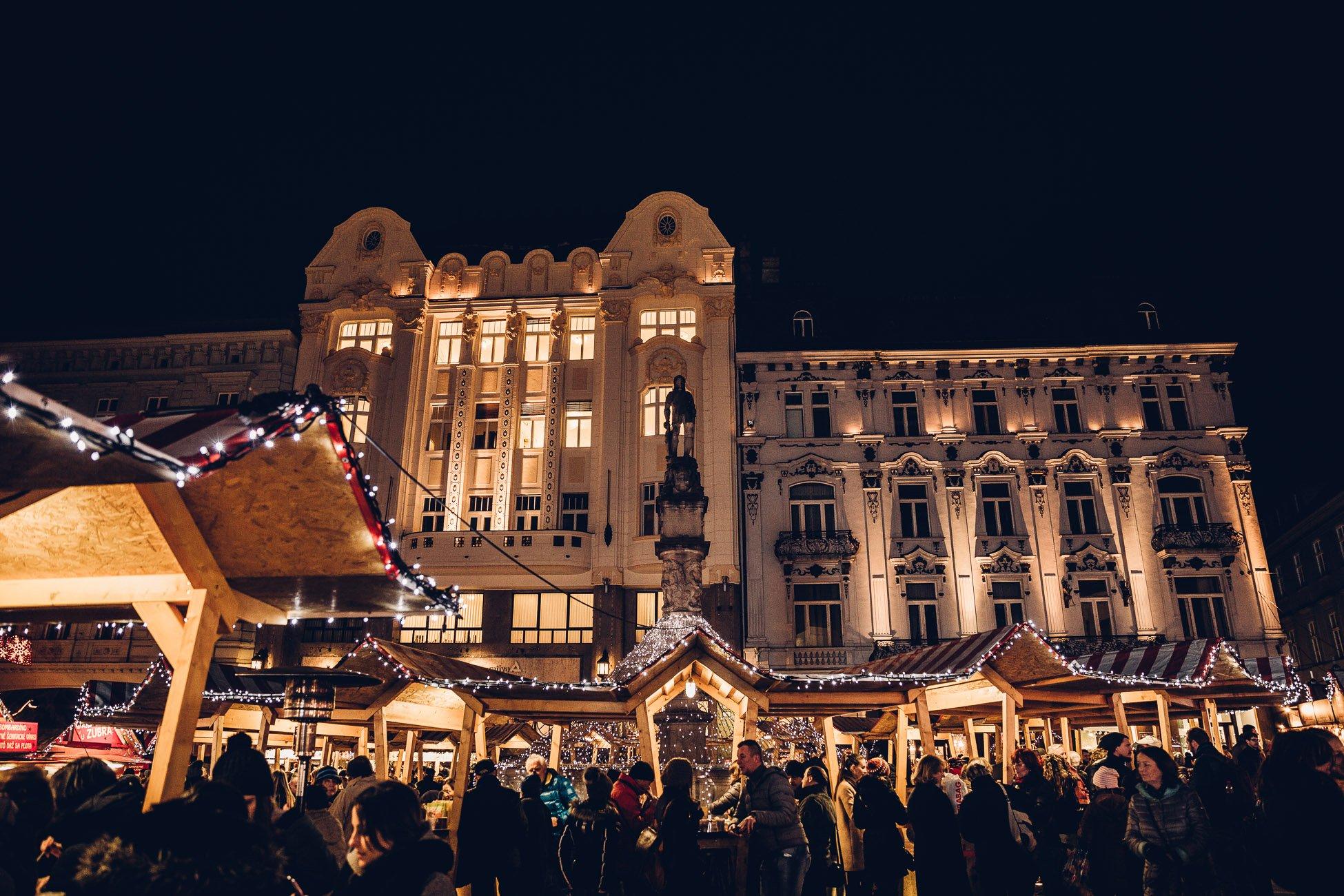 Christmas Market at Hlavné námestie