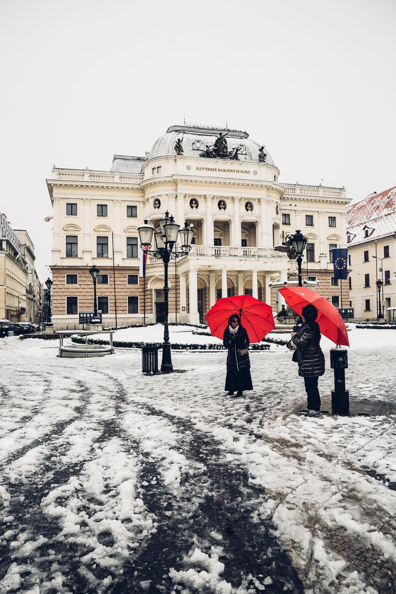 Historical building of the Slovak National Theatre at Hviezdoslavovo námestie, Bratislava