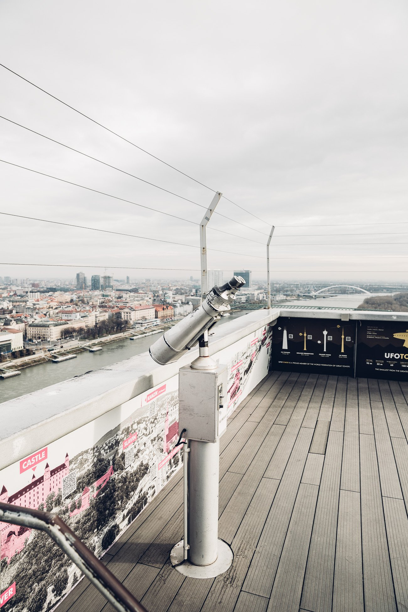 View from UFO Observation Deck in Bratislava