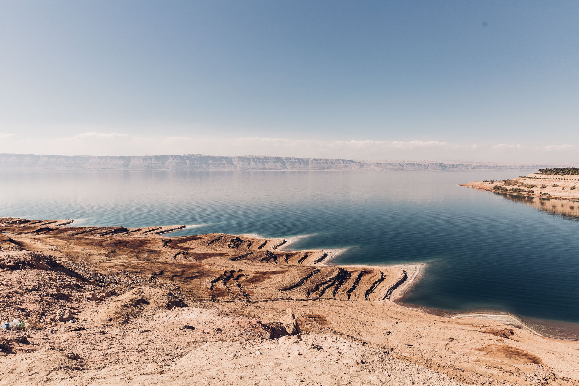 Dead Sea shore in Jordan