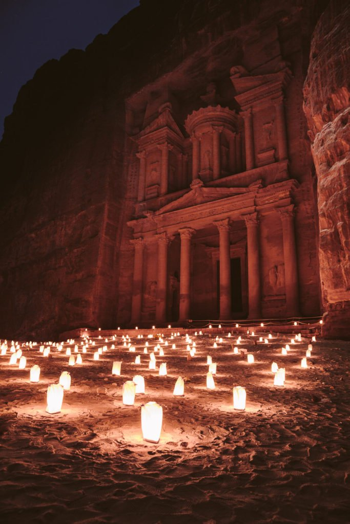 Petra by night - happening Monday, Wednesday and Thursday in Jordan