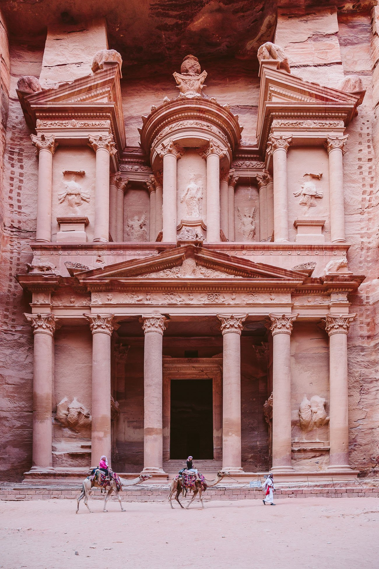 The Treasury in Petra in the early morning