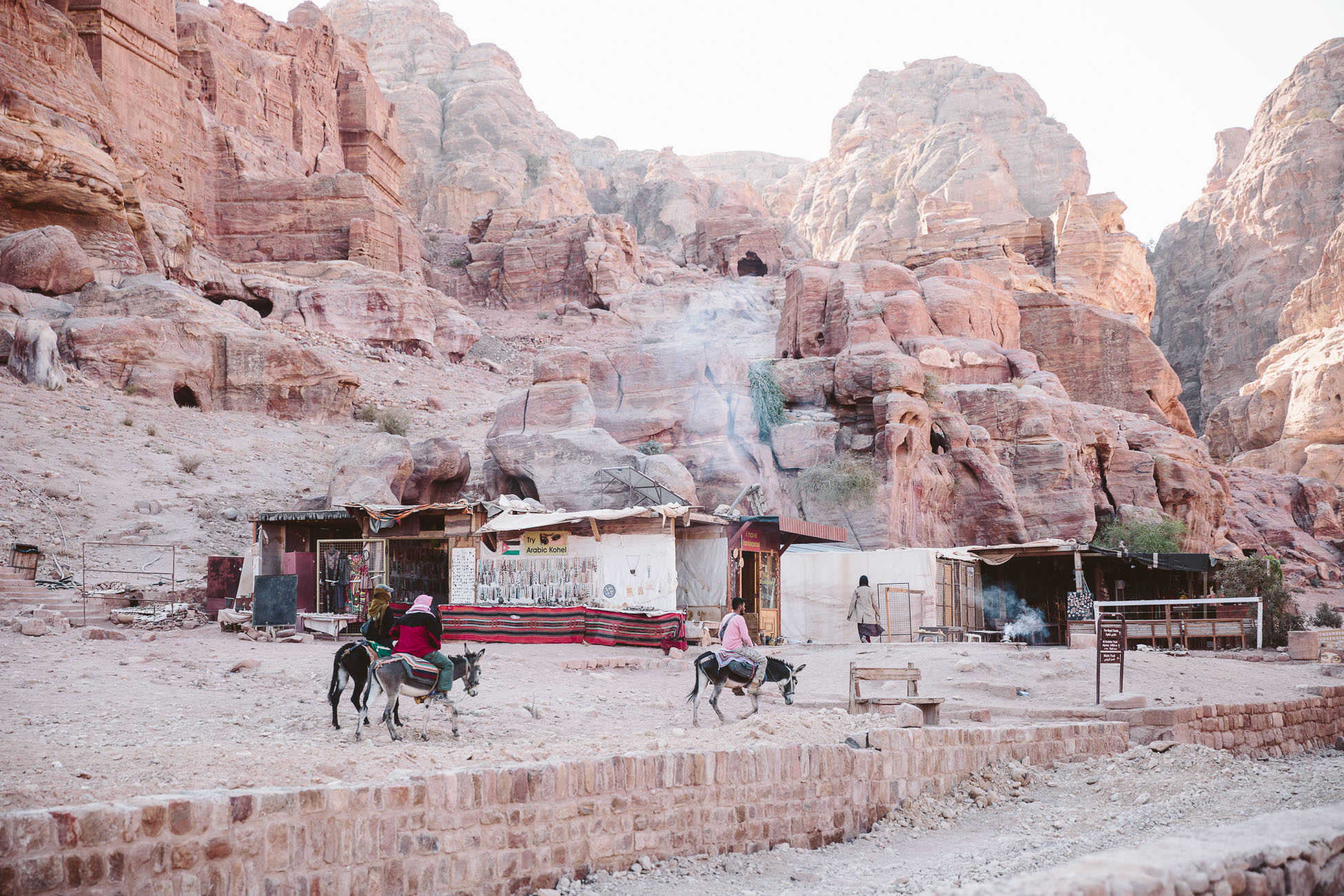 Bedouin tents in Petra Jordan